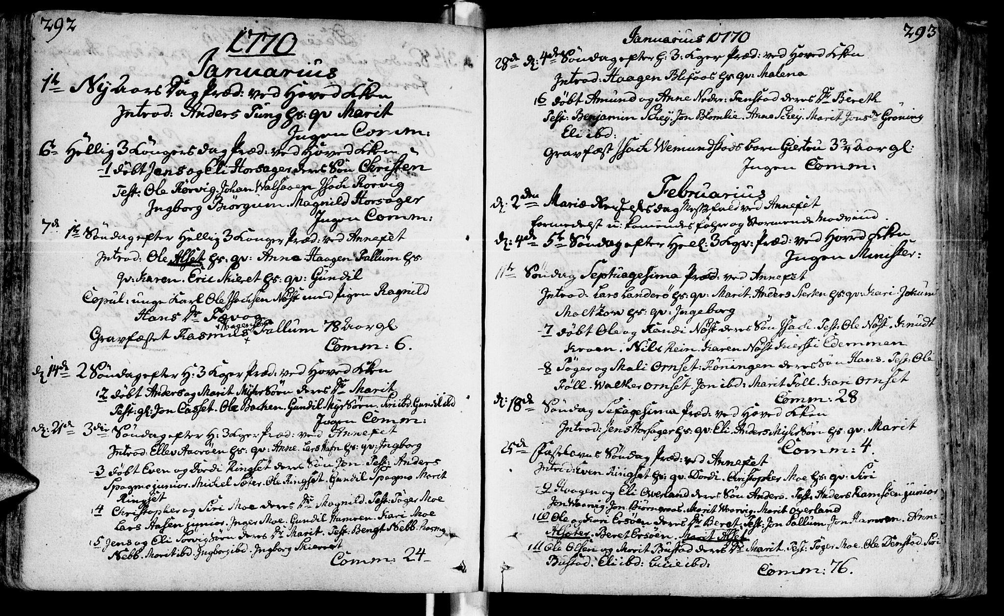 SAT, Ministerialprotokoller, klokkerbøker og fødselsregistre - Sør-Trøndelag, 646/L0605: Ministerialbok nr. 646A03, 1751-1790, s. 292-293