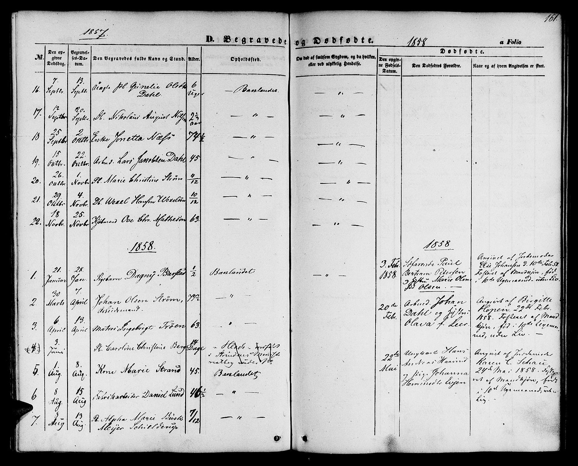 SAT, Ministerialprotokoller, klokkerbøker og fødselsregistre - Sør-Trøndelag, 604/L0184: Ministerialbok nr. 604A05, 1851-1860, s. 161