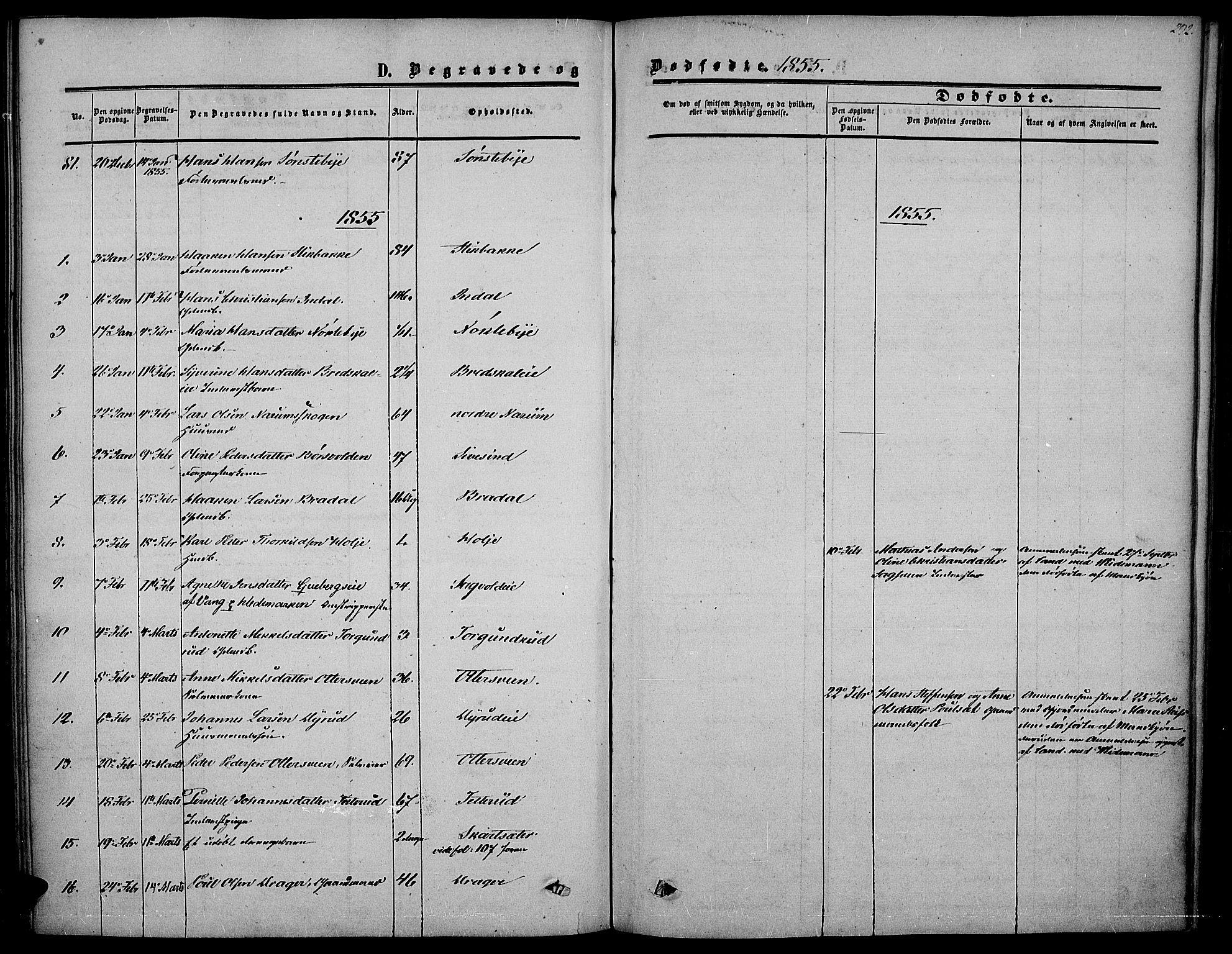SAH, Vestre Toten prestekontor, Ministerialbok nr. 5, 1850-1855, s. 292