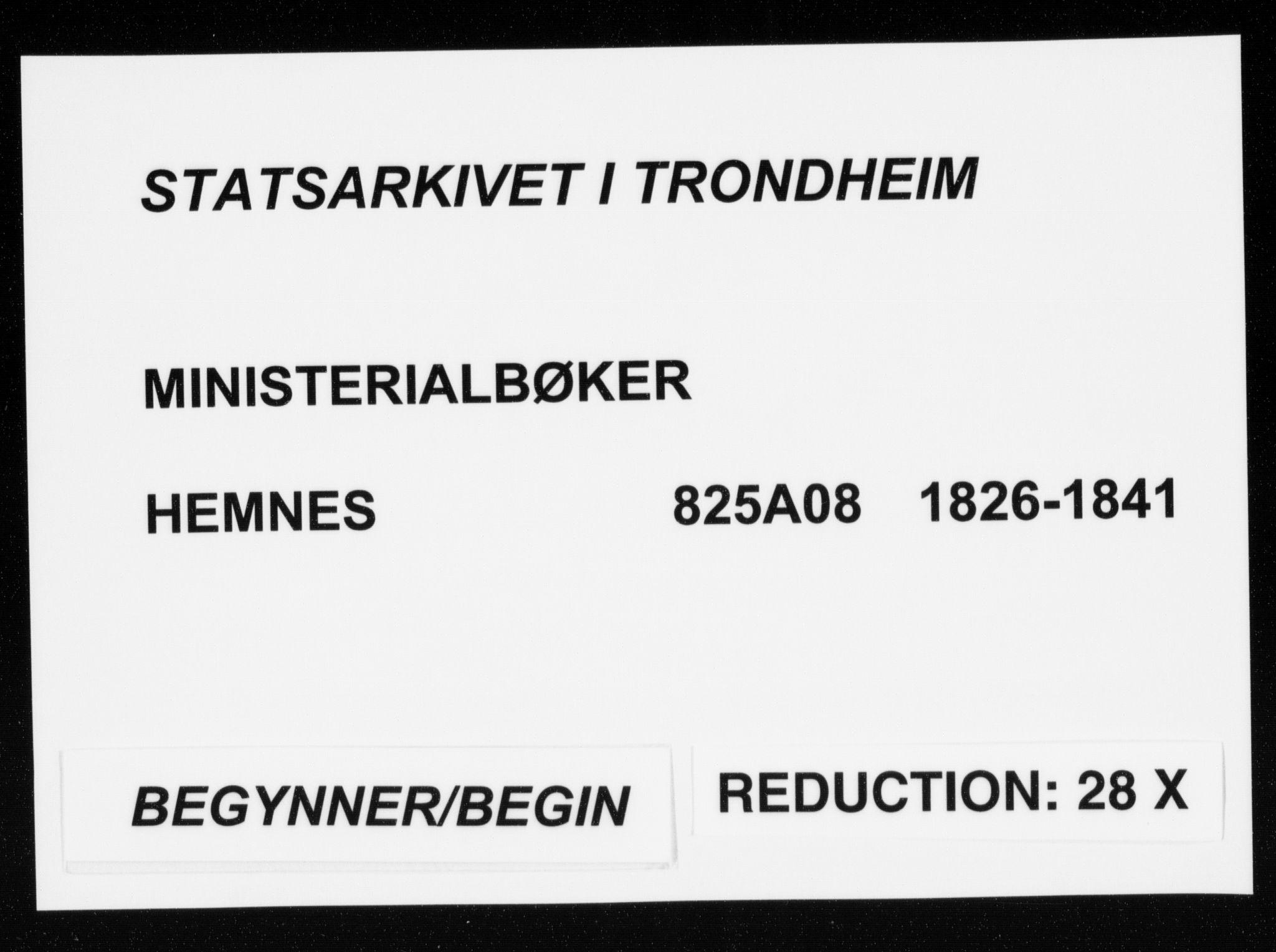 SAT, Ministerialprotokoller, klokkerbøker og fødselsregistre - Nordland, 825/L0354: Ministerialbok nr. 825A08, 1826-1841