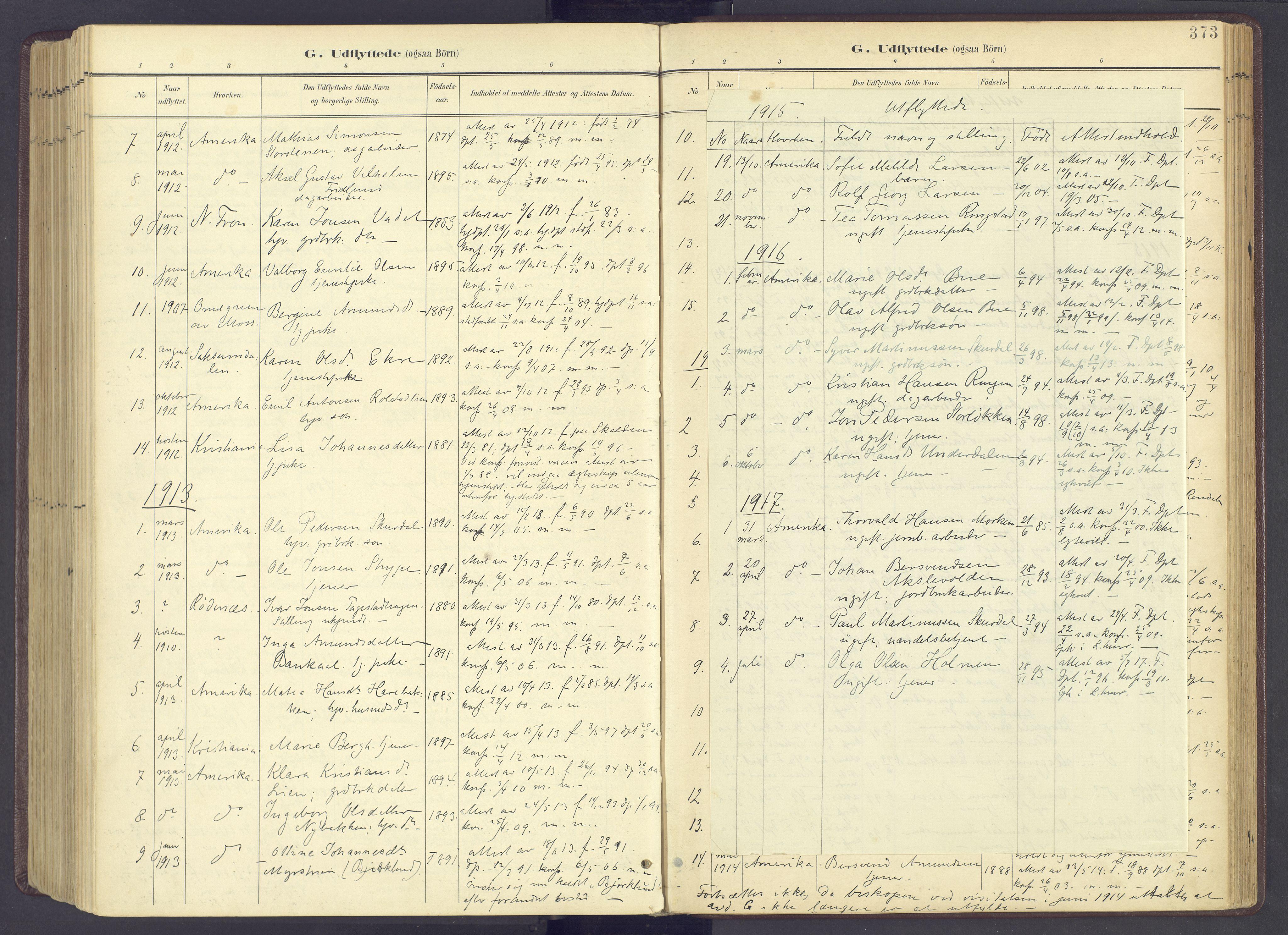 SAH, Sør-Fron prestekontor, H/Ha/Haa/L0004: Ministerialbok nr. 4, 1898-1919, s. 373