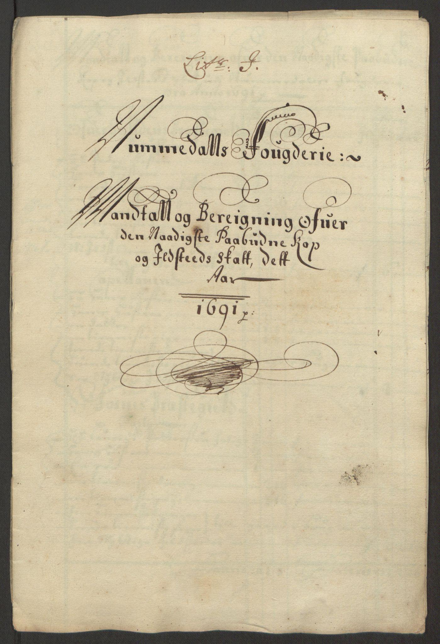 RA, Rentekammeret inntil 1814, Reviderte regnskaper, Fogderegnskap, R64/L4423: Fogderegnskap Namdal, 1690-1691, s. 259