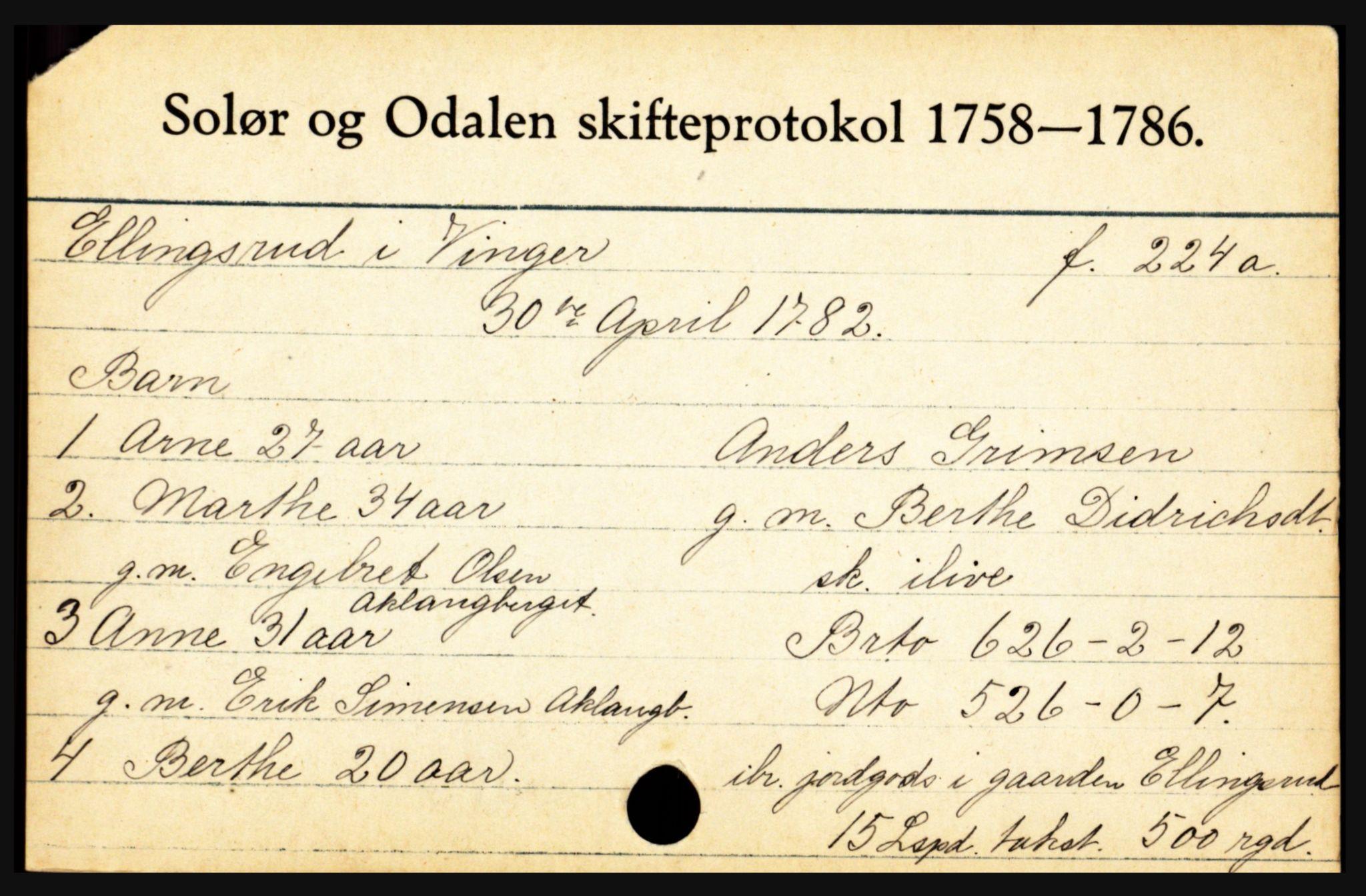 SAH, Solør og Odalen sorenskriveri, J, 1758-1868, s. 1995