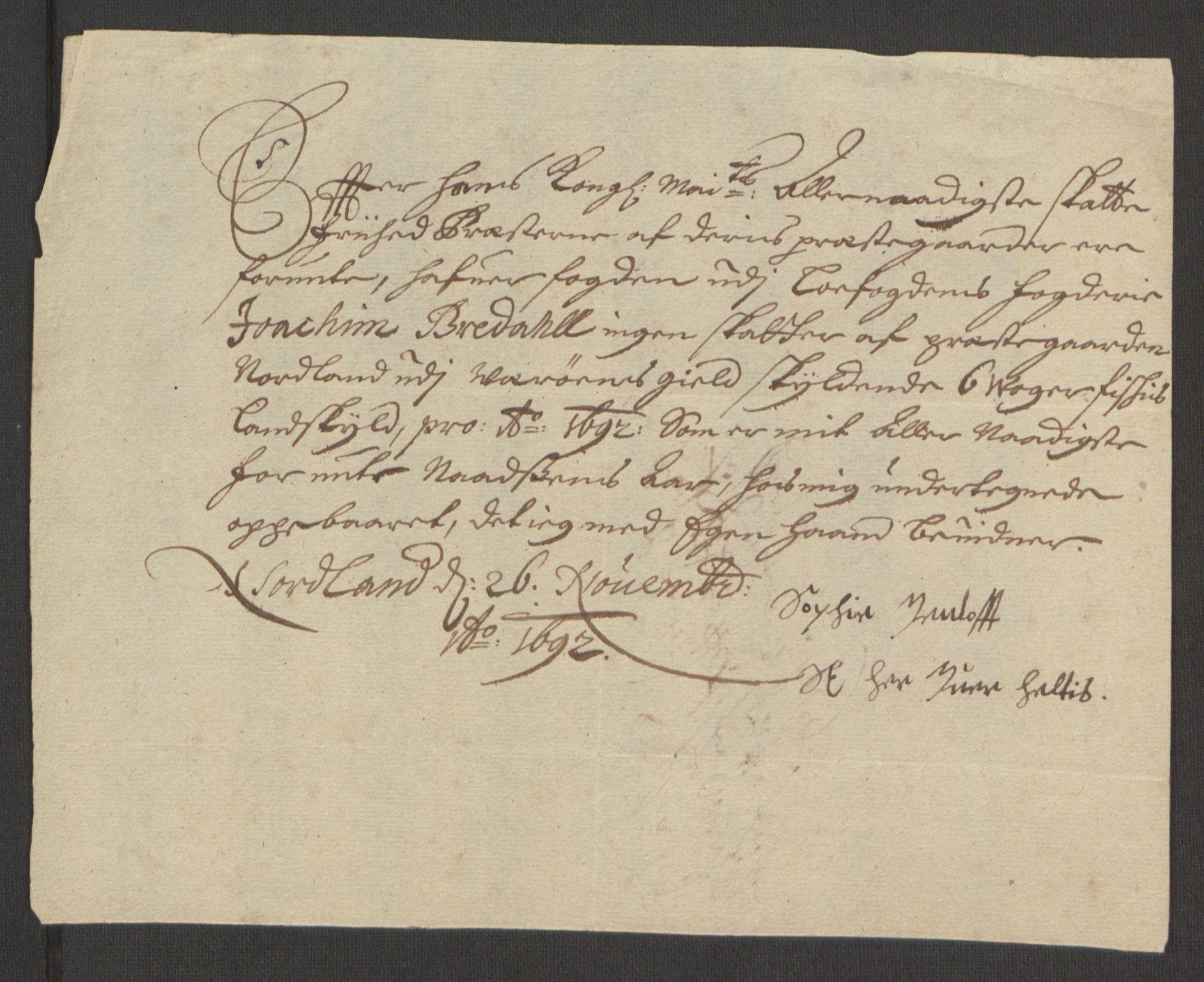 RA, Rentekammeret inntil 1814, Reviderte regnskaper, Fogderegnskap, R67/L4675: Fogderegnskap Vesterålen, Andenes og Lofoten, 1691-1693, s. 204