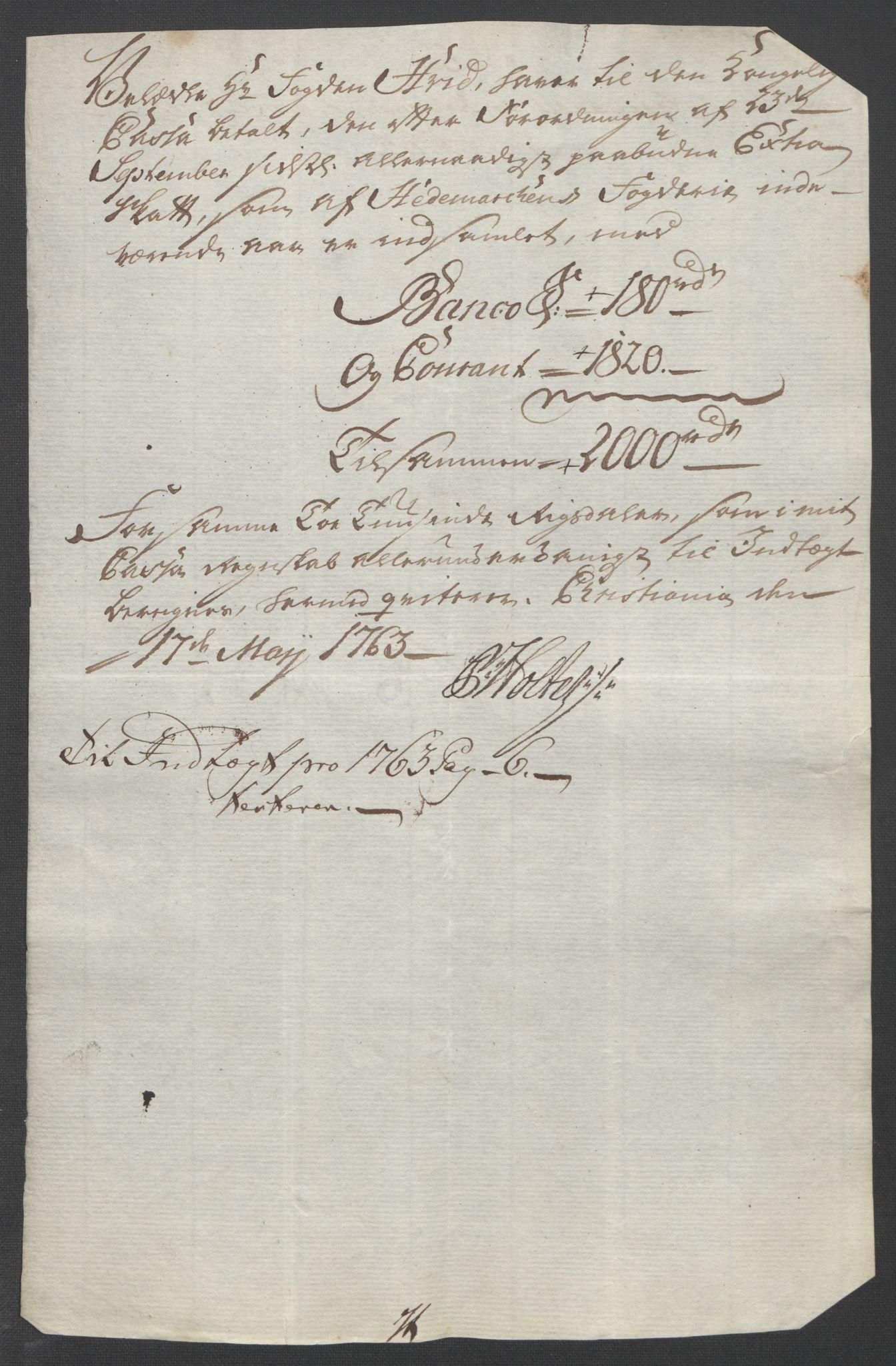 RA, Rentekammeret inntil 1814, Reviderte regnskaper, Fogderegnskap, R16/L1147: Ekstraskatten Hedmark, 1763-1764, s. 85
