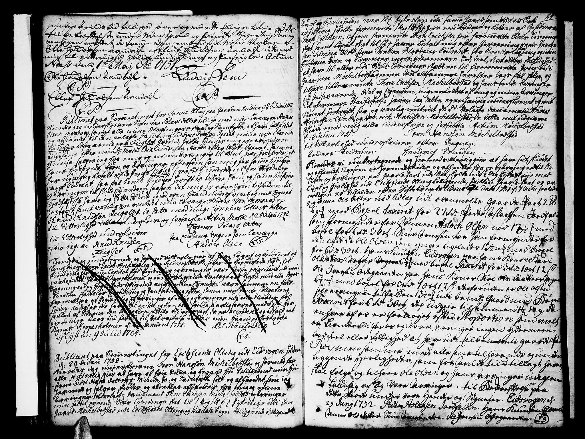 SAT, Romsdal sorenskriveri, 2/2C/L0003: Pantebok nr. 3, 1747-1767, s. 64