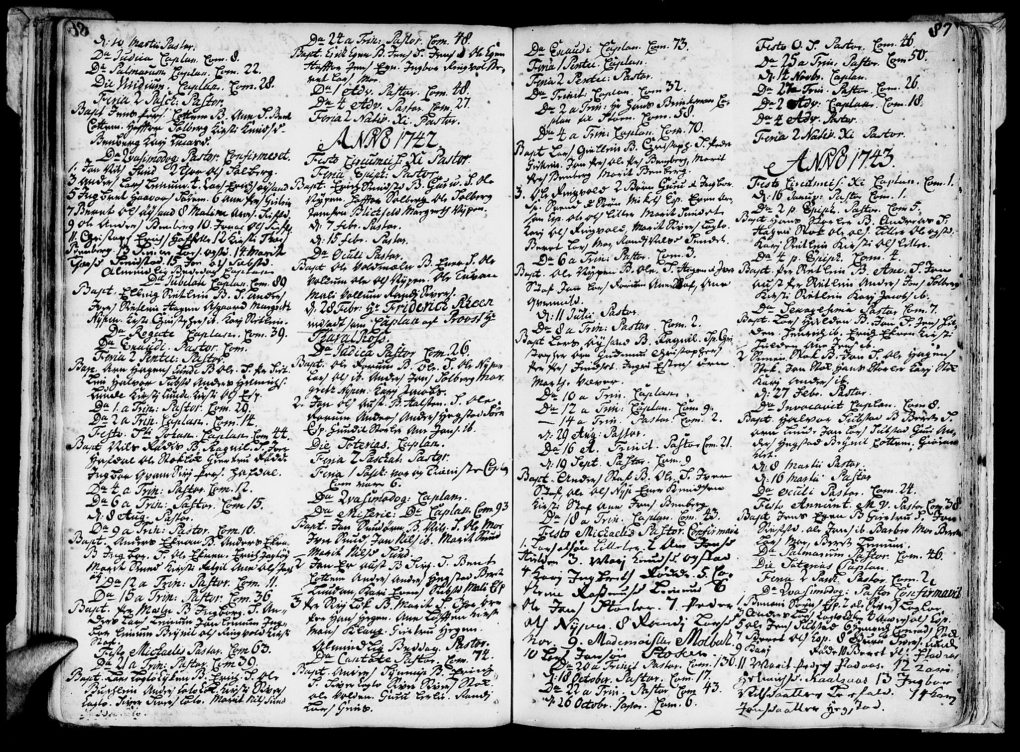 SAT, Ministerialprotokoller, klokkerbøker og fødselsregistre - Sør-Trøndelag, 691/L1059: Ministerialbok nr. 691A01 /3, 1740-1767, s. 87
