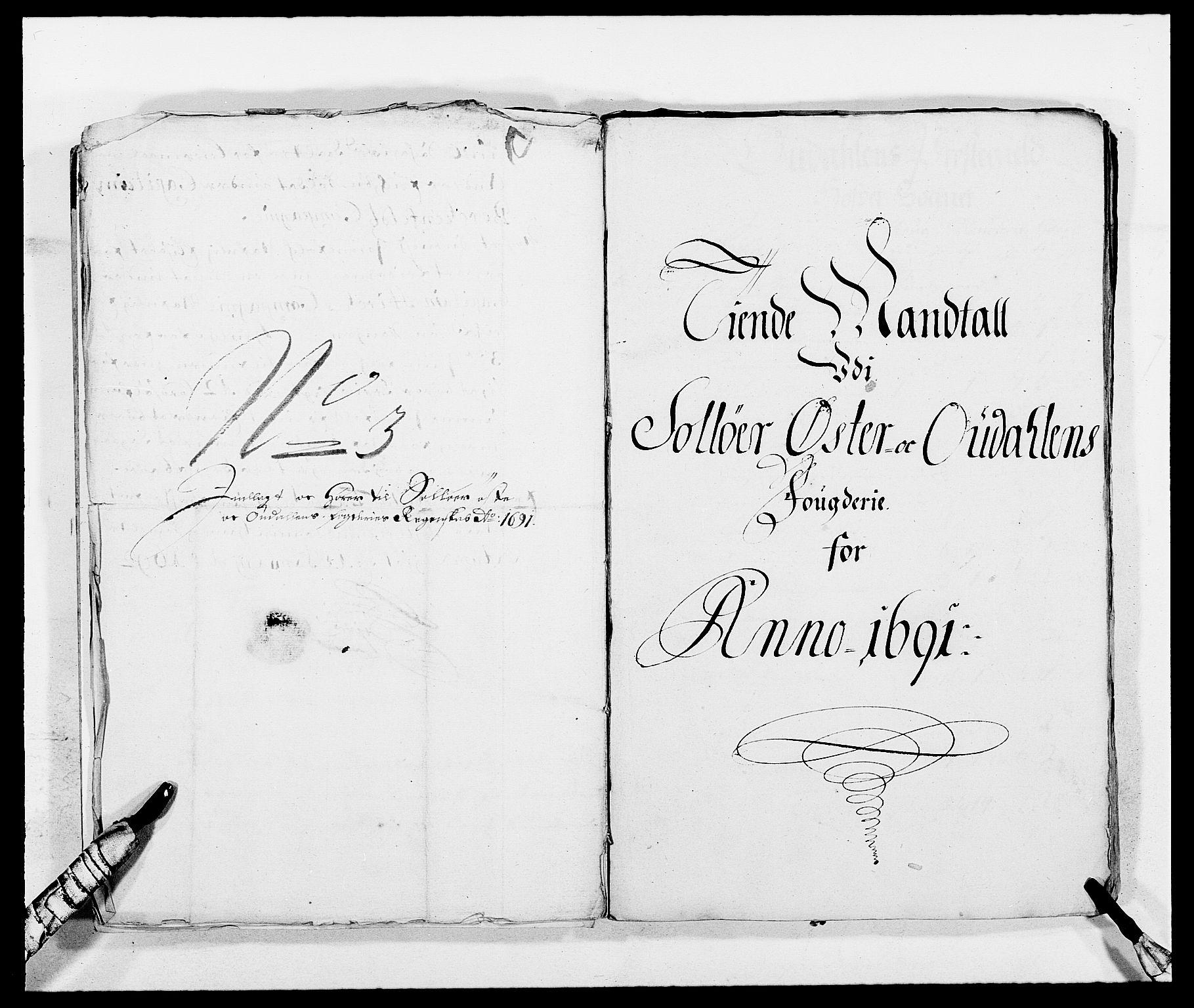 RA, Rentekammeret inntil 1814, Reviderte regnskaper, Fogderegnskap, R13/L0829: Fogderegnskap Solør, Odal og Østerdal, 1691, s. 277