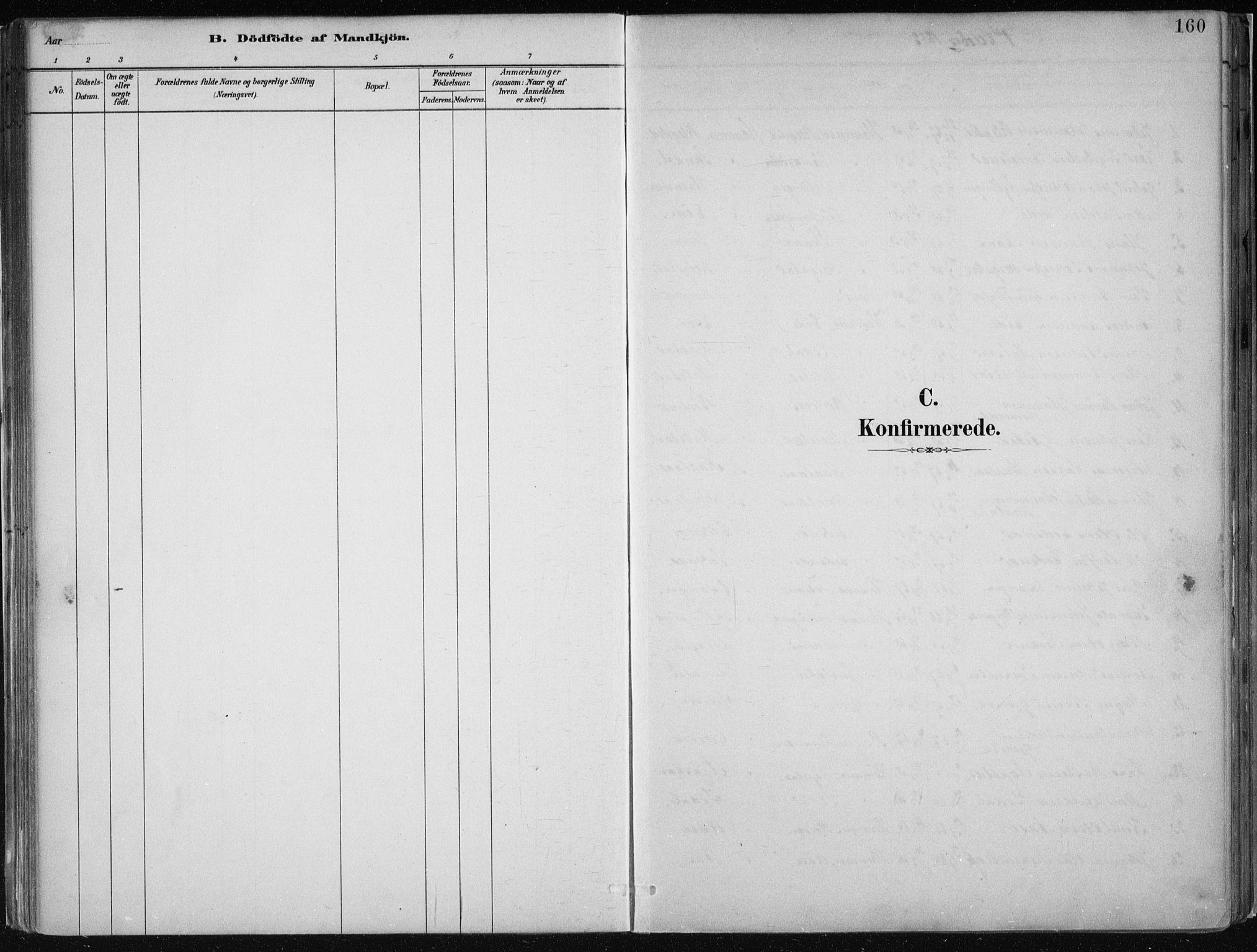 SAB, Hamre Sokneprestembete, H/Haa: Ministerialbok nr. B  1, 1882-1905, s. 160