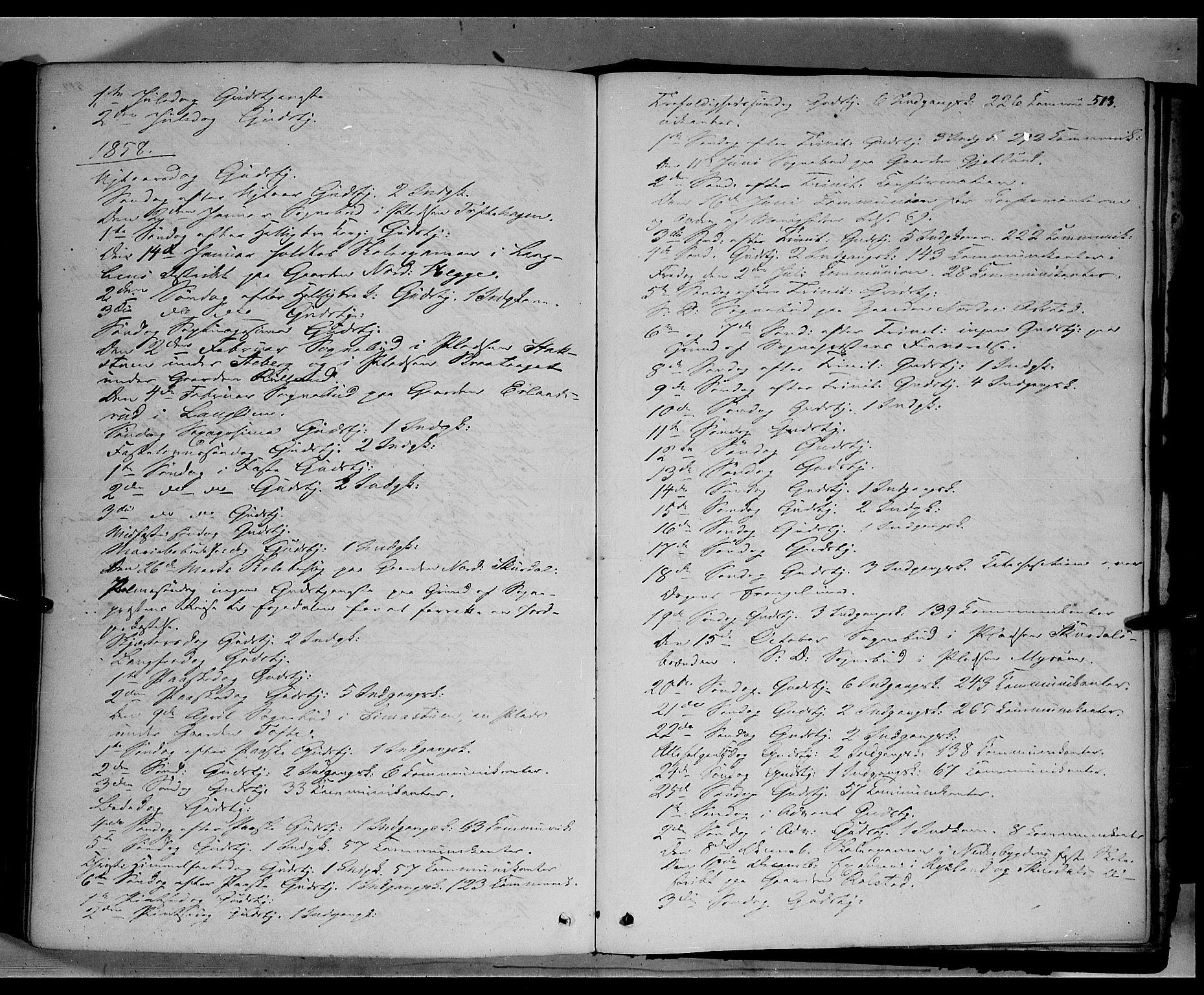 SAH, Sør-Fron prestekontor, H/Ha/Haa/L0001: Ministerialbok nr. 1, 1849-1863, s. 513