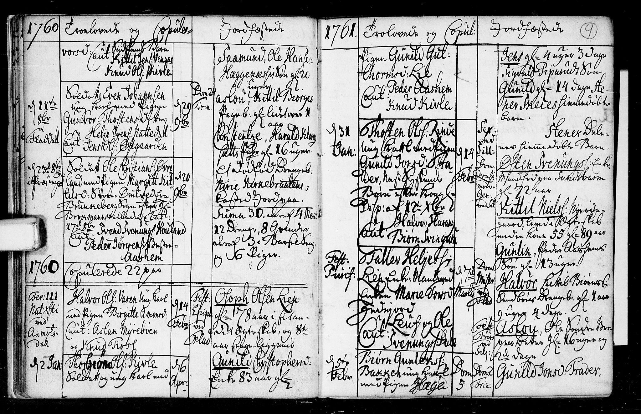 SAKO, Seljord kirkebøker, F/Fa/L0008: Ministerialbok nr. I 8, 1755-1814, s. 9
