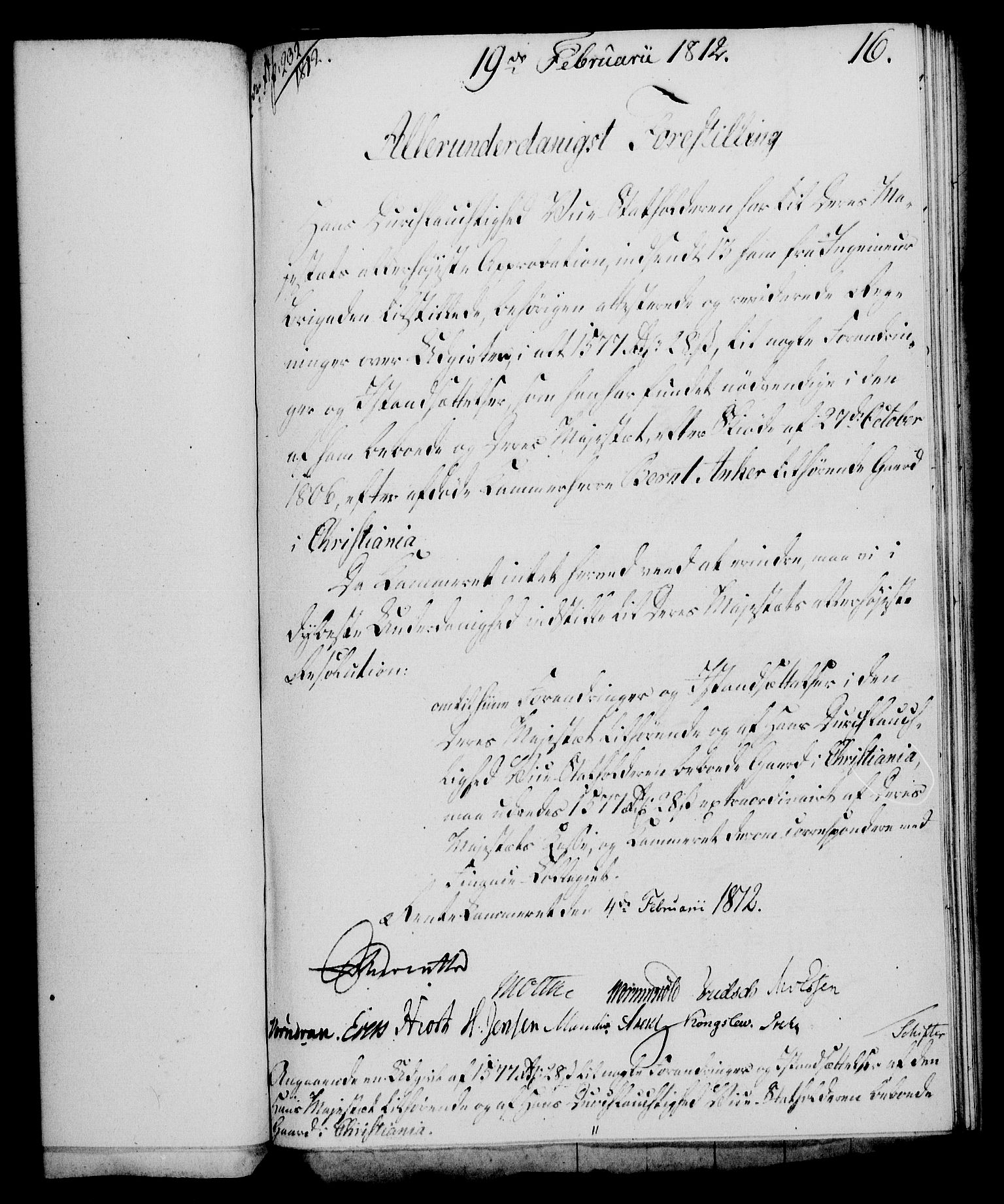 RA, Rentekammeret, Kammerkanselliet, G/Gf/Gfa/L0094: Norsk relasjons- og resolusjonsprotokoll (merket RK 52.94), 1812, s. 82