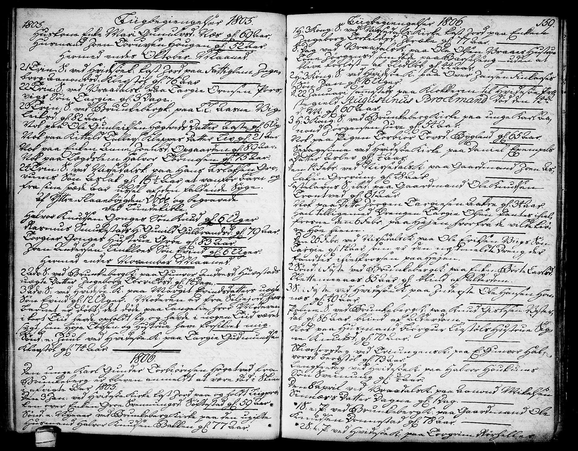 SAKO, Kviteseid kirkebøker, F/Fa/L0004: Ministerialbok nr. I 4, 1800-1814, s. 159