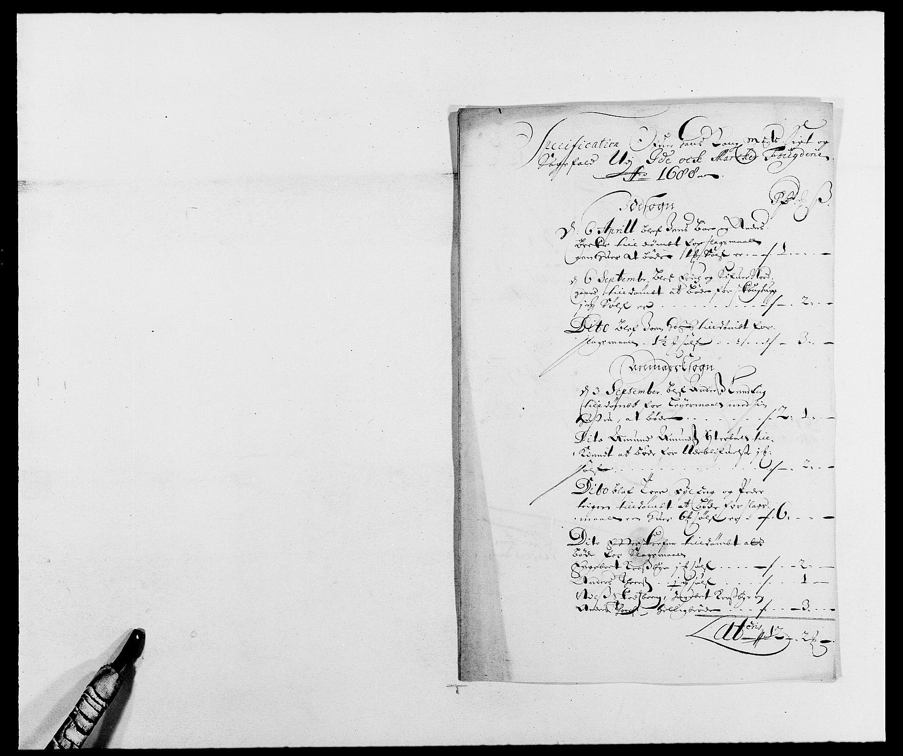 RA, Rentekammeret inntil 1814, Reviderte regnskaper, Fogderegnskap, R01/L0007: Fogderegnskap Idd og Marker, 1687-1688, s. 274
