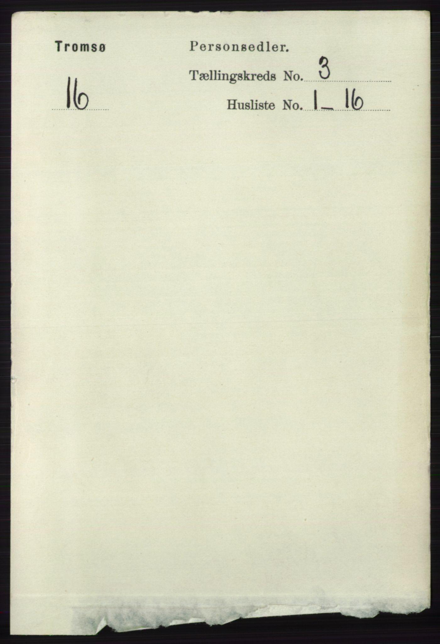 RA, Folketelling 1891 for 1902 Tromsø kjøpstad, 1891, s. 3173