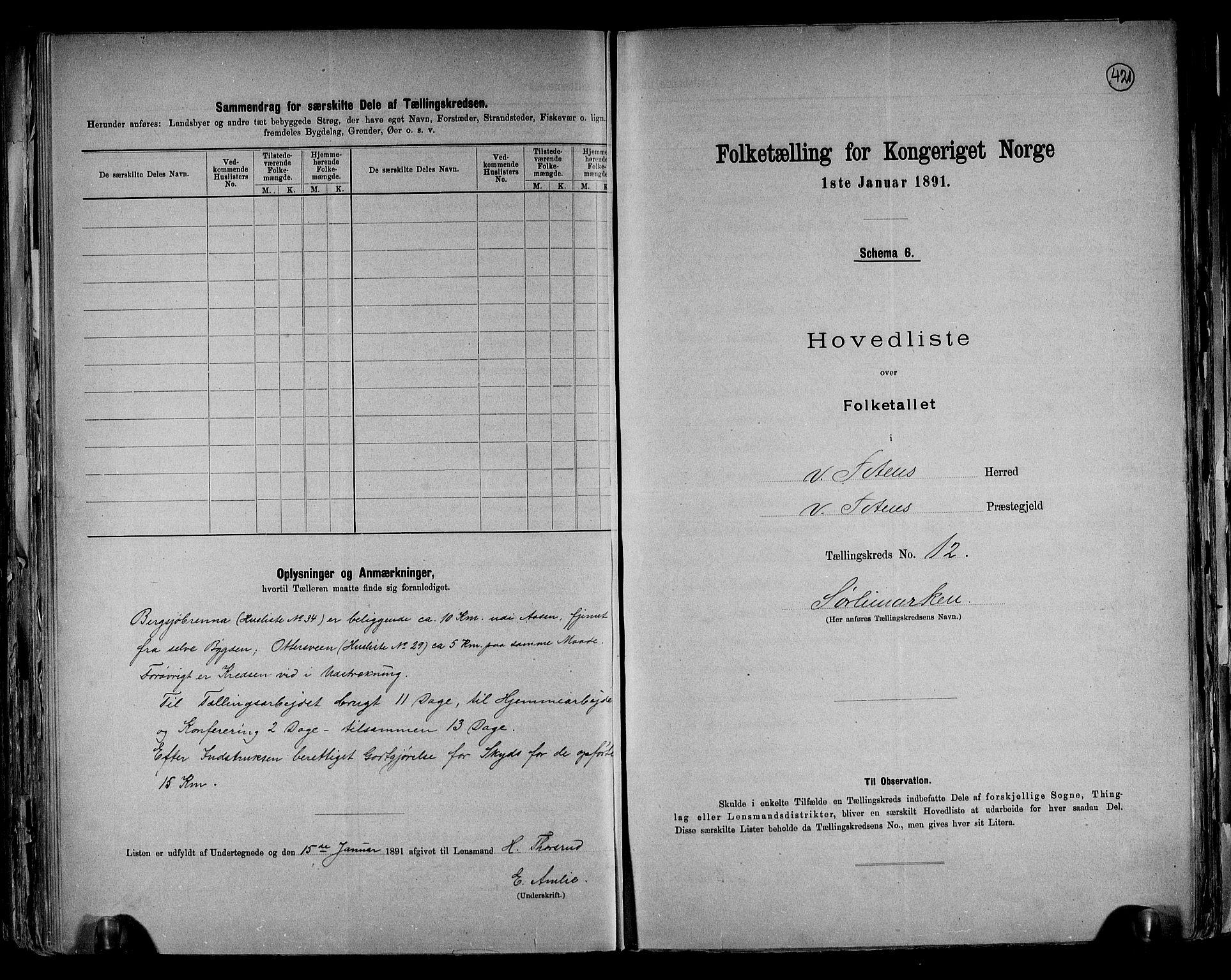 RA, Folketelling 1891 for 0529 Vestre Toten herred, 1891, s. 35