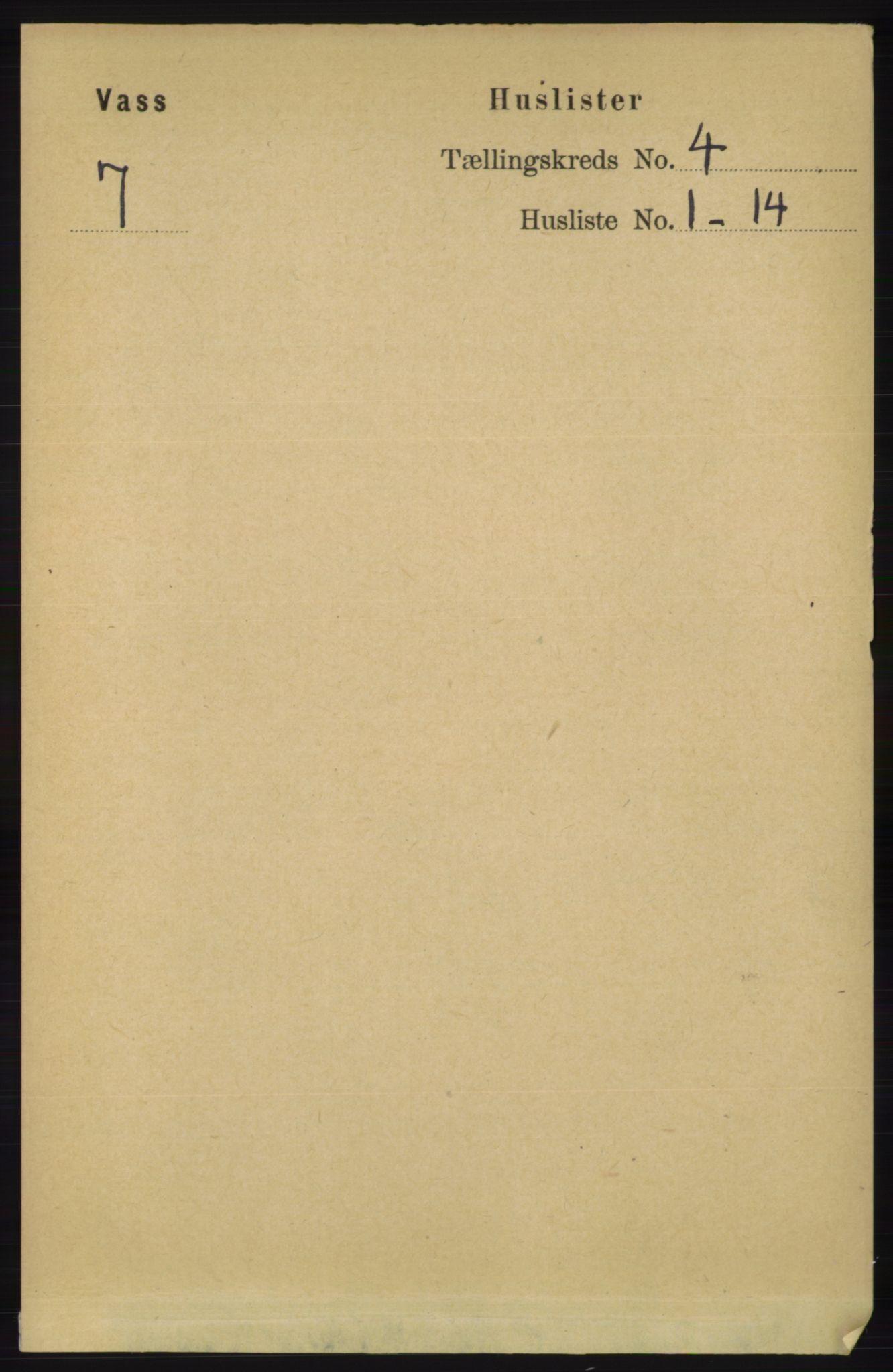 RA, Folketelling 1891 for 1155 Vats herred, 1891, s. 590