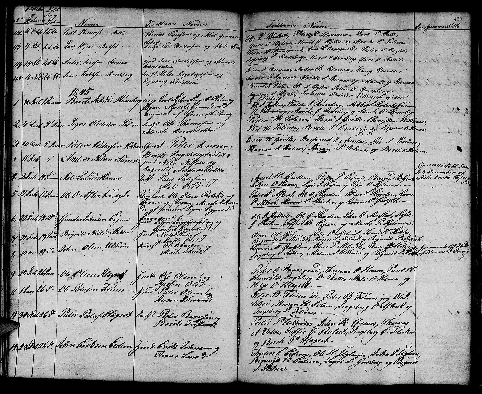SAT, Ministerialprotokoller, klokkerbøker og fødselsregistre - Sør-Trøndelag, 695/L1154: Klokkerbok nr. 695C05, 1842-1858, s. 136