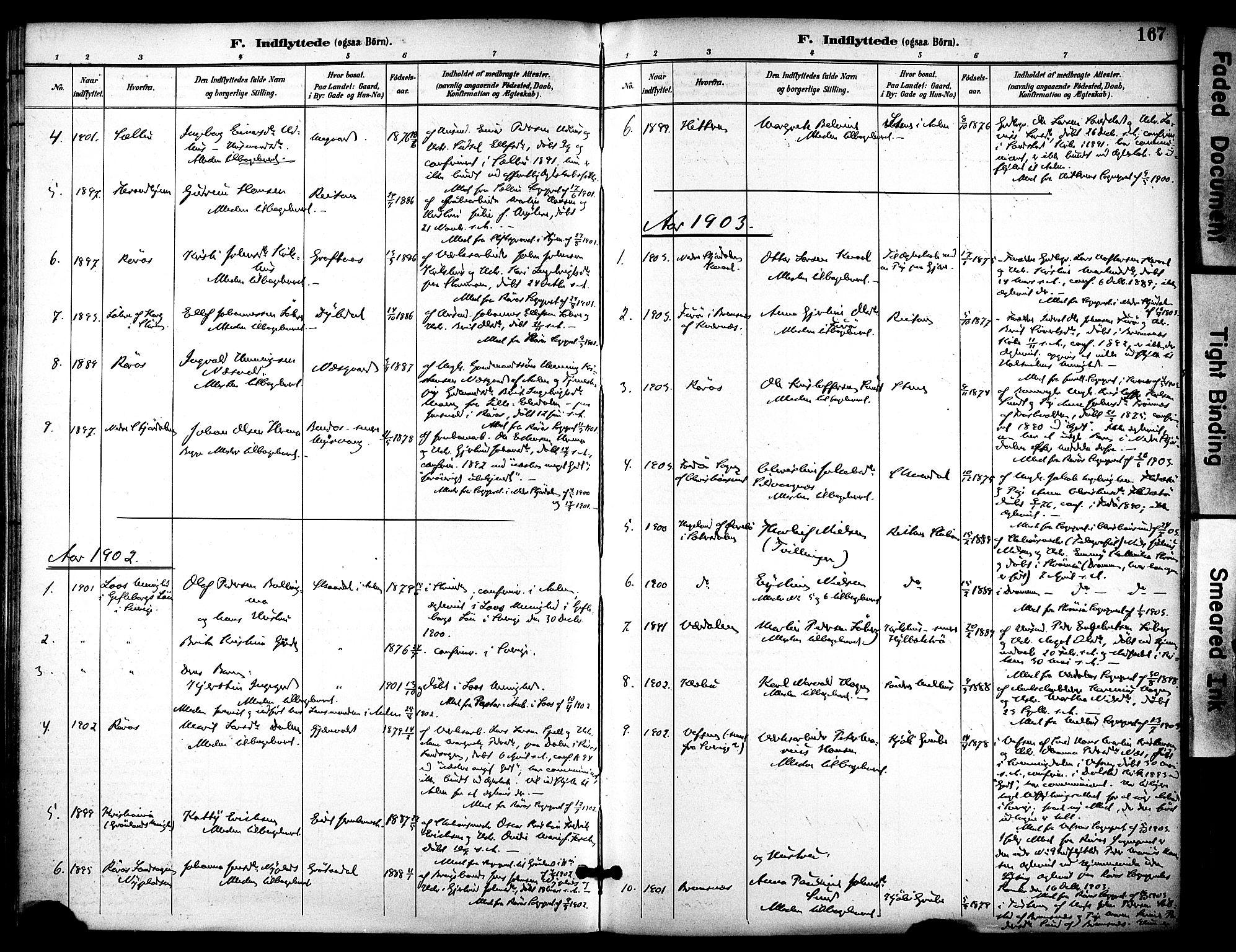 SAT, Ministerialprotokoller, klokkerbøker og fødselsregistre - Sør-Trøndelag, 686/L0984: Ministerialbok nr. 686A02, 1891-1906, s. 167