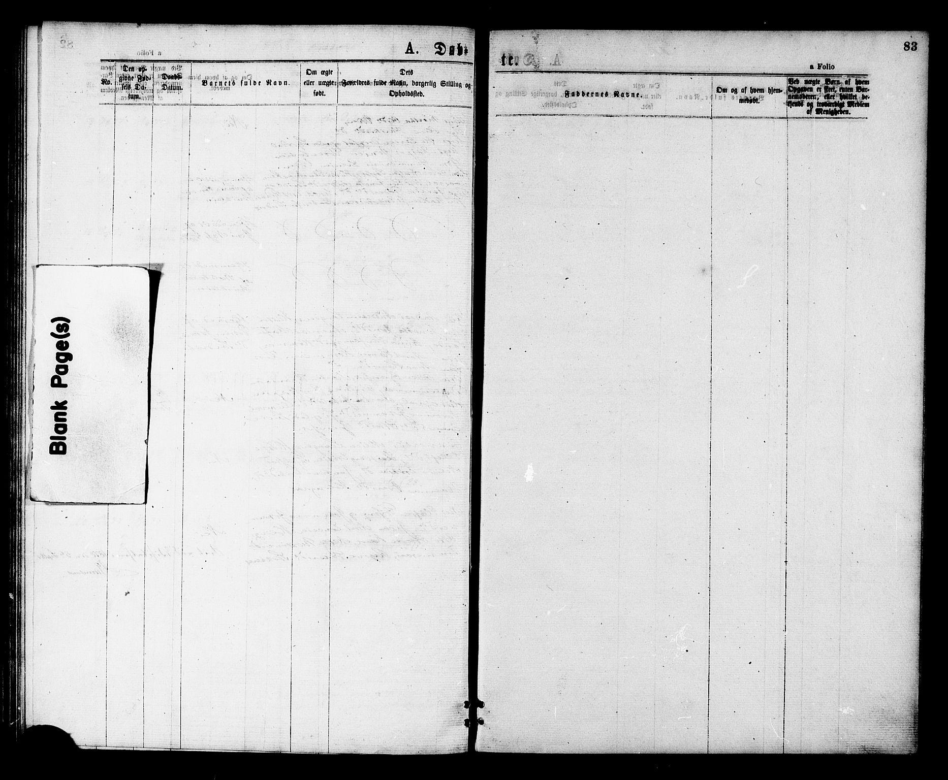 SAT, Ministerialprotokoller, klokkerbøker og fødselsregistre - Nord-Trøndelag, 713/L0118: Ministerialbok nr. 713A08 /2, 1875-1877, s. 83