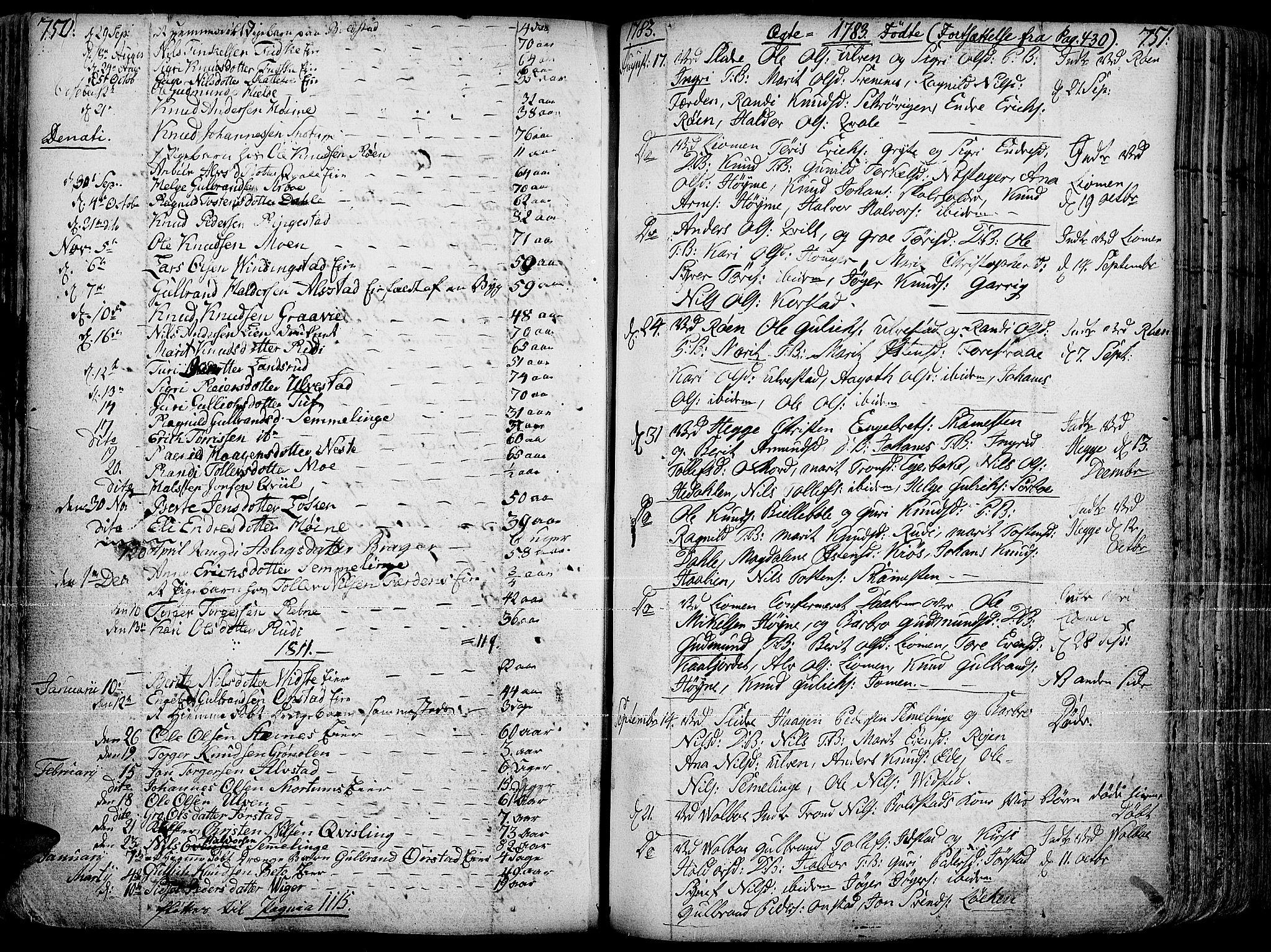 SAH, Slidre prestekontor, Ministerialbok nr. 1, 1724-1814, s. 750-751