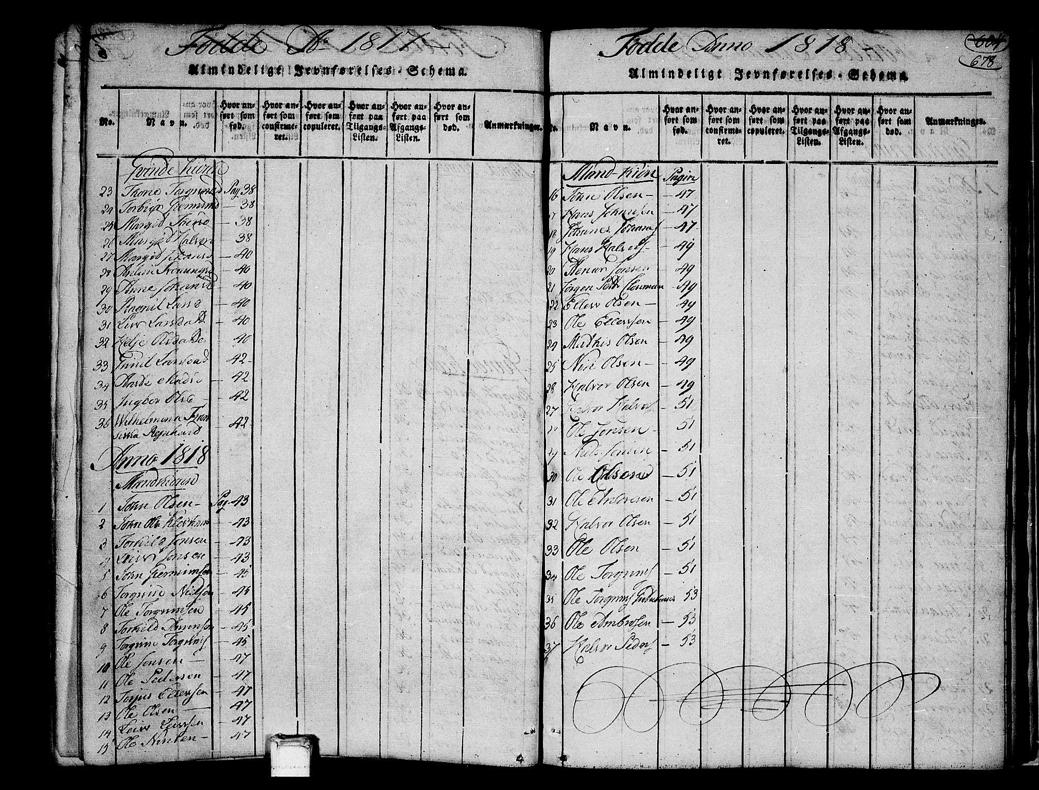 SAKO, Heddal kirkebøker, F/Fa/L0005: Ministerialbok nr. I 5, 1814-1837, s. 677-678