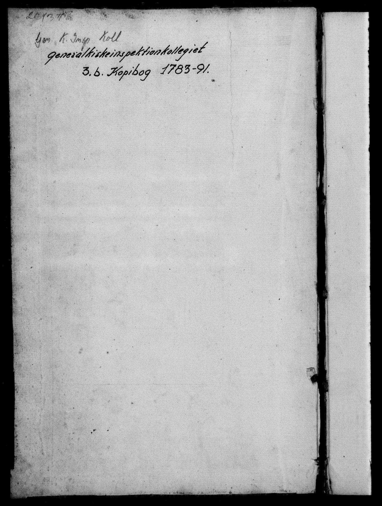 DRA, Generalkirkeinspektionskollegiet, F4-03/F4-03-02: Kopibog for forestillinger og breve, 1783-1791