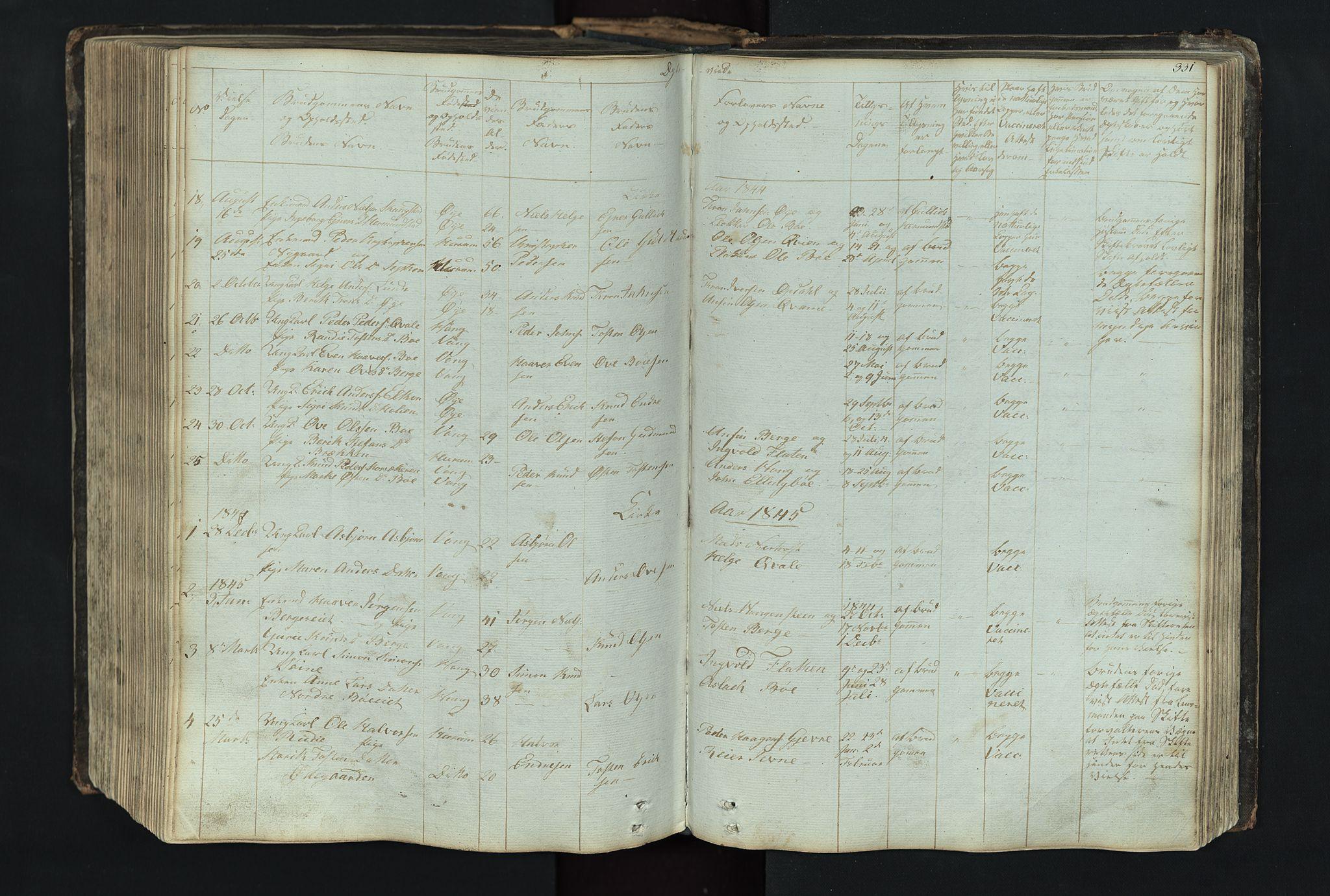 SAH, Vang prestekontor, Valdres, Klokkerbok nr. 4, 1835-1892, s. 331