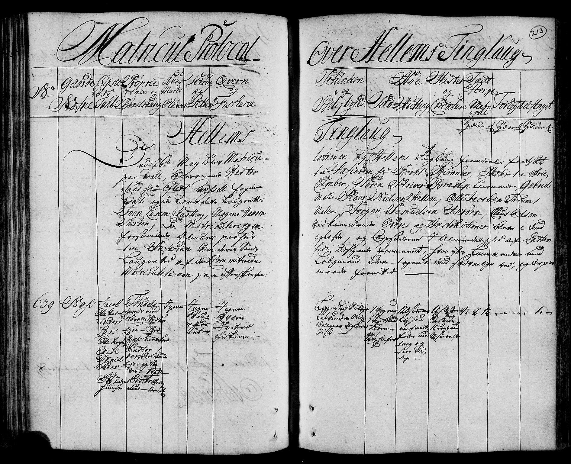 RA, Rentekammeret inntil 1814, Realistisk ordnet avdeling, N/Nb/Nbf/L0162: Fosen eksaminasjonsprotokoll, 1723, s. 212b-213a