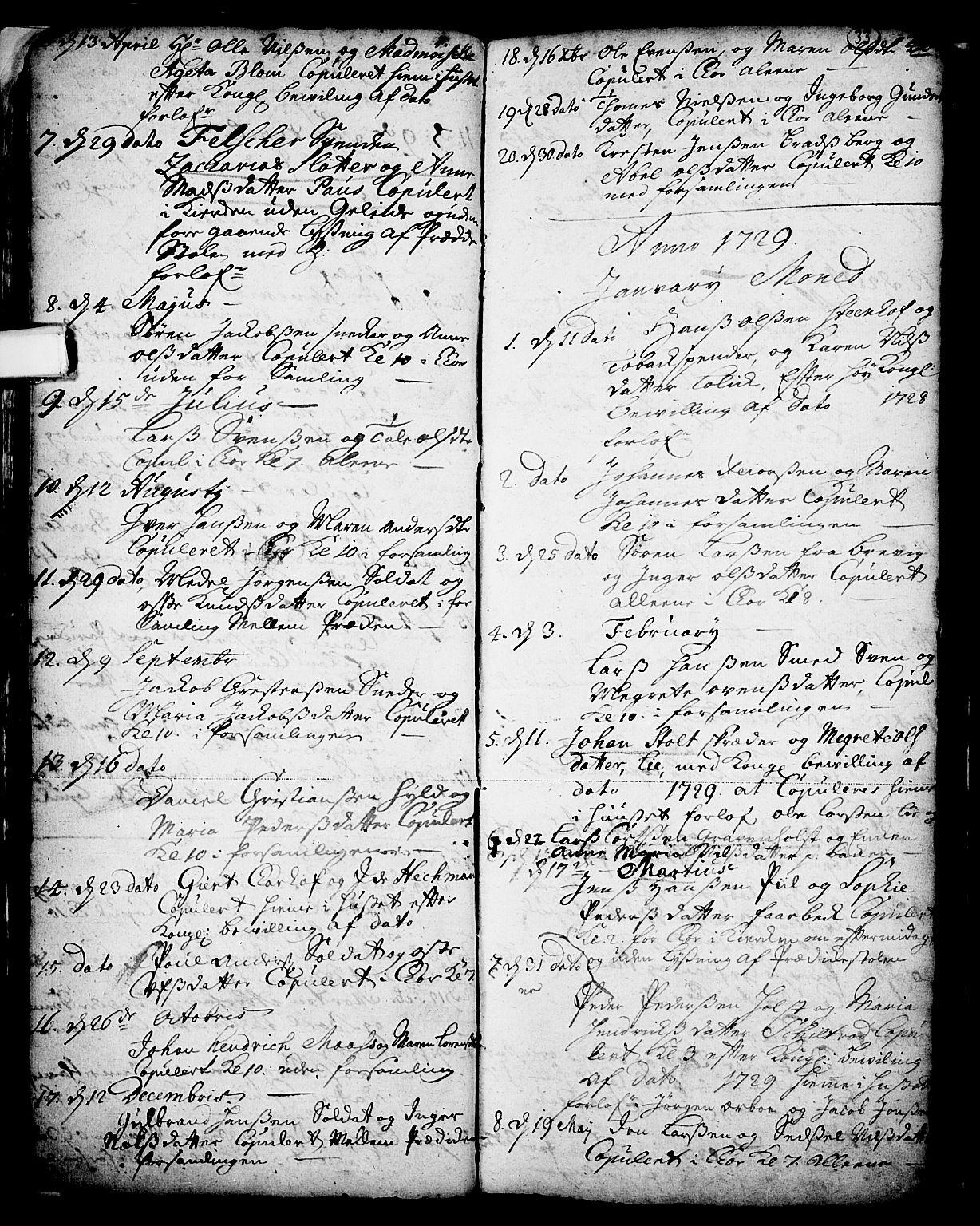 SAKO, Skien kirkebøker, F/Fa/L0002: Ministerialbok nr. 2, 1716-1757, s. 33