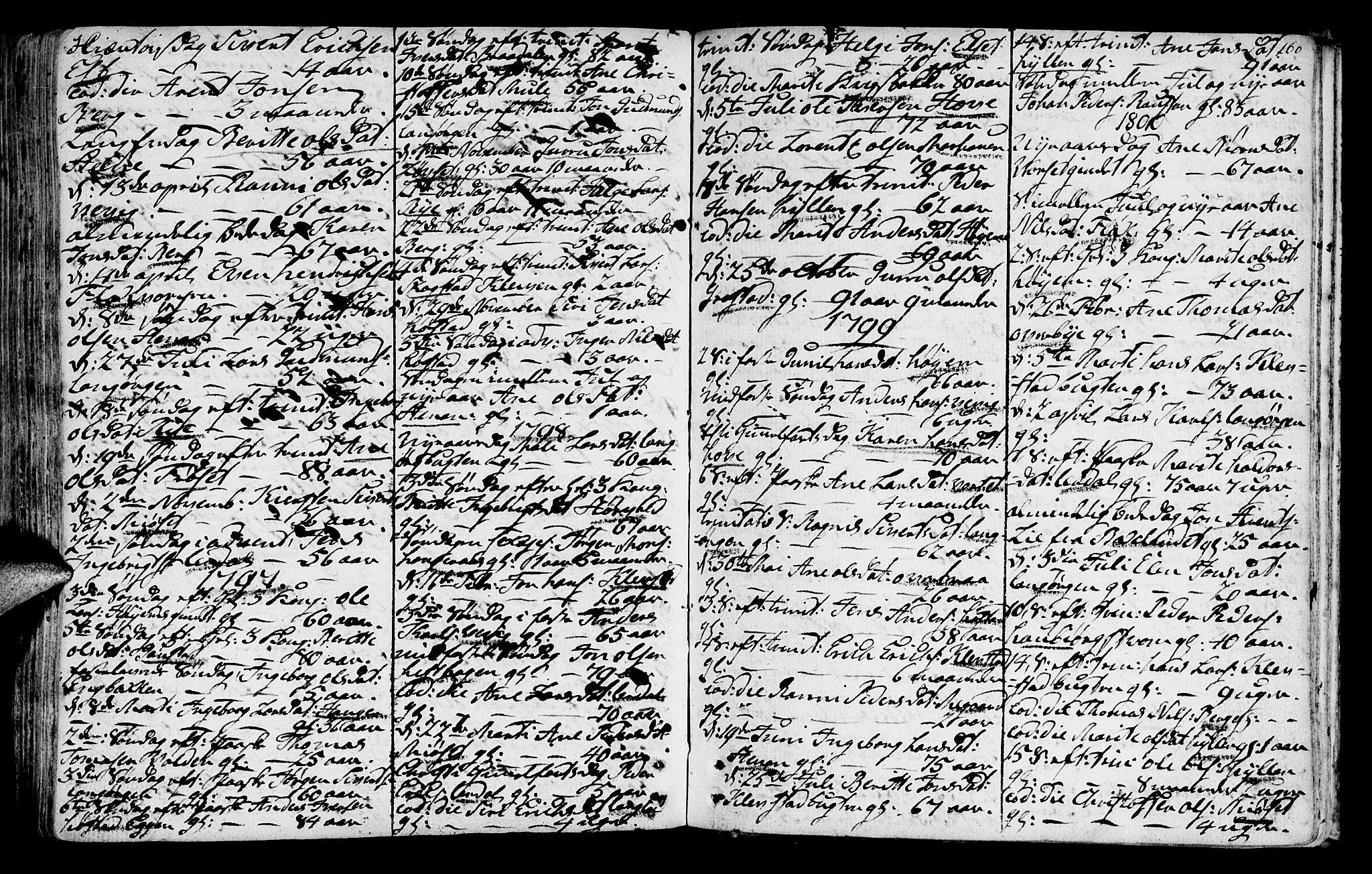 SAT, Ministerialprotokoller, klokkerbøker og fødselsregistre - Sør-Trøndelag, 612/L0370: Ministerialbok nr. 612A04, 1754-1802, s. 160