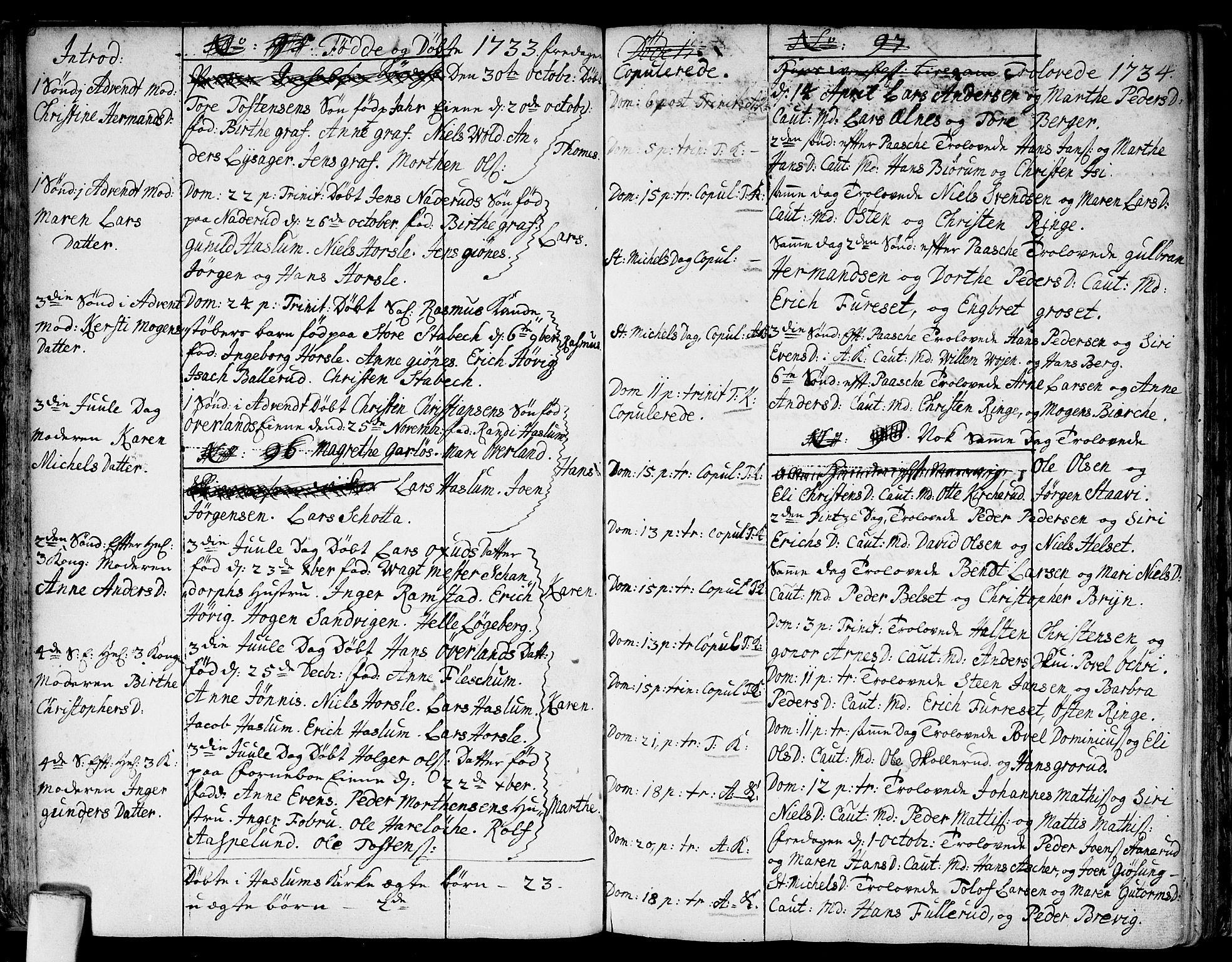 SAO, Asker prestekontor Kirkebøker, F/Fa/L0001: Ministerialbok nr. I 1, 1726-1744, s. 27