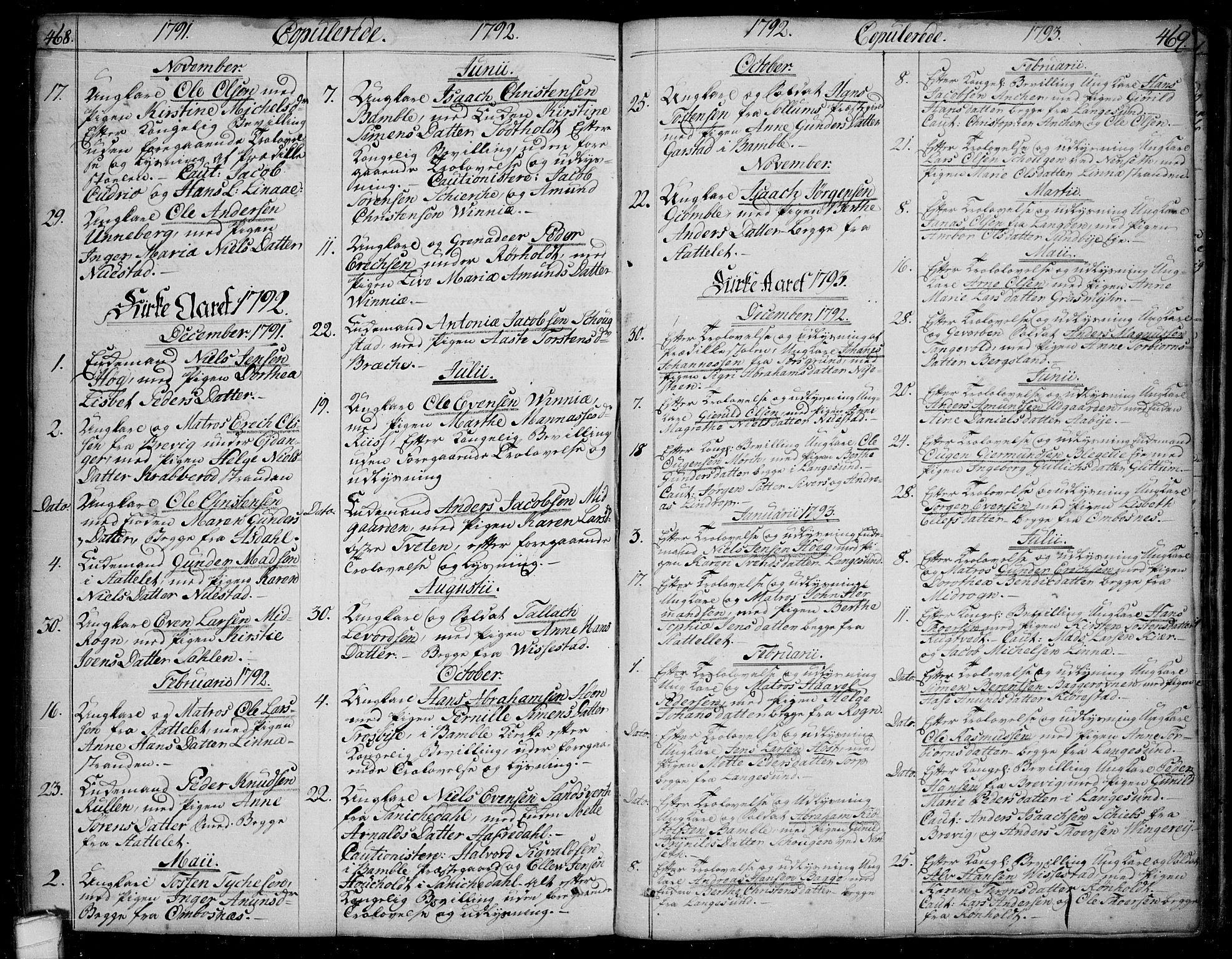 SAKO, Bamble kirkebøker, F/Fa/L0002: Ministerialbok nr. I 2, 1775-1814, s. 468-469