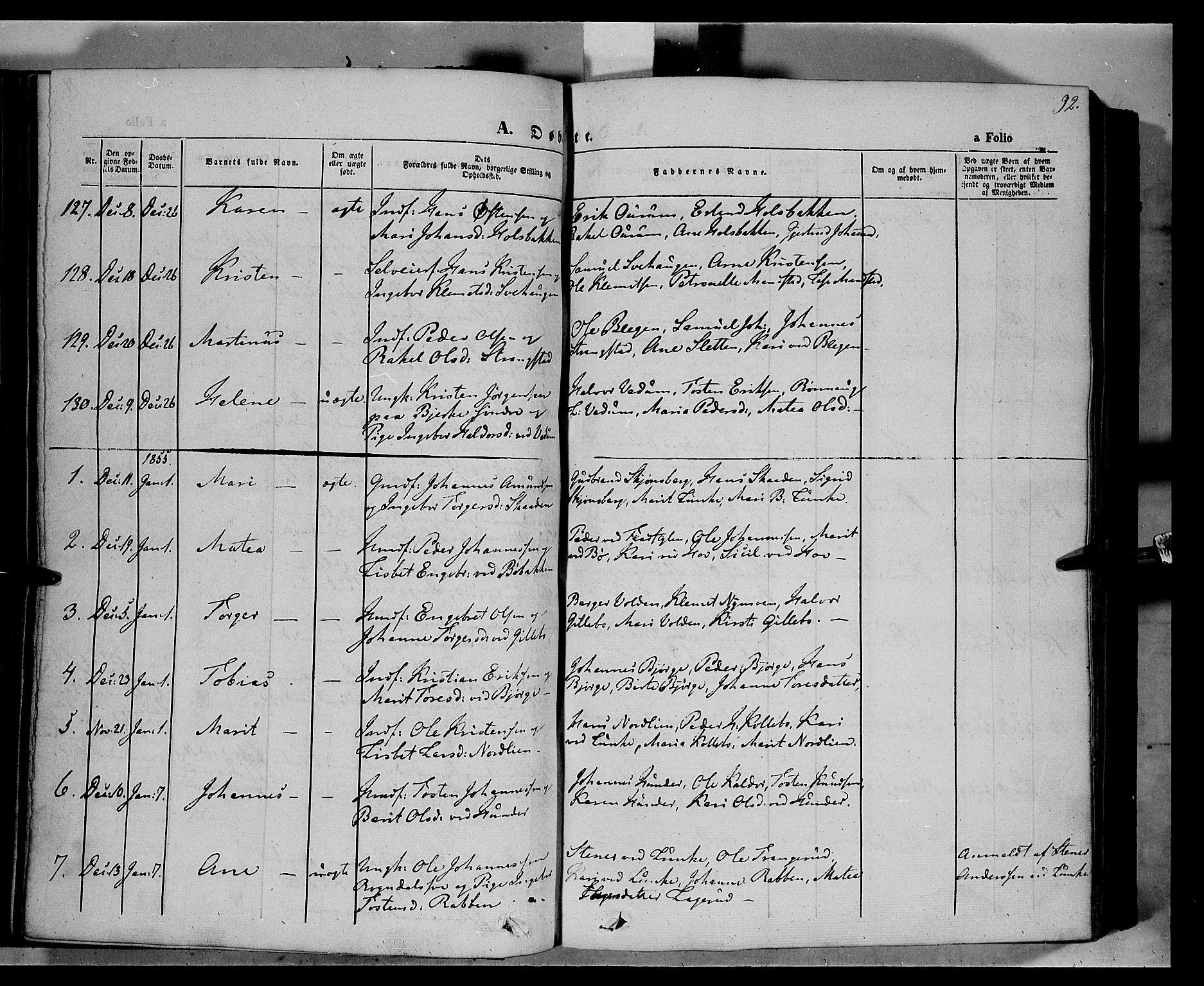 SAH, Øyer prestekontor, Ministerialbok nr. 5, 1842-1857, s. 92