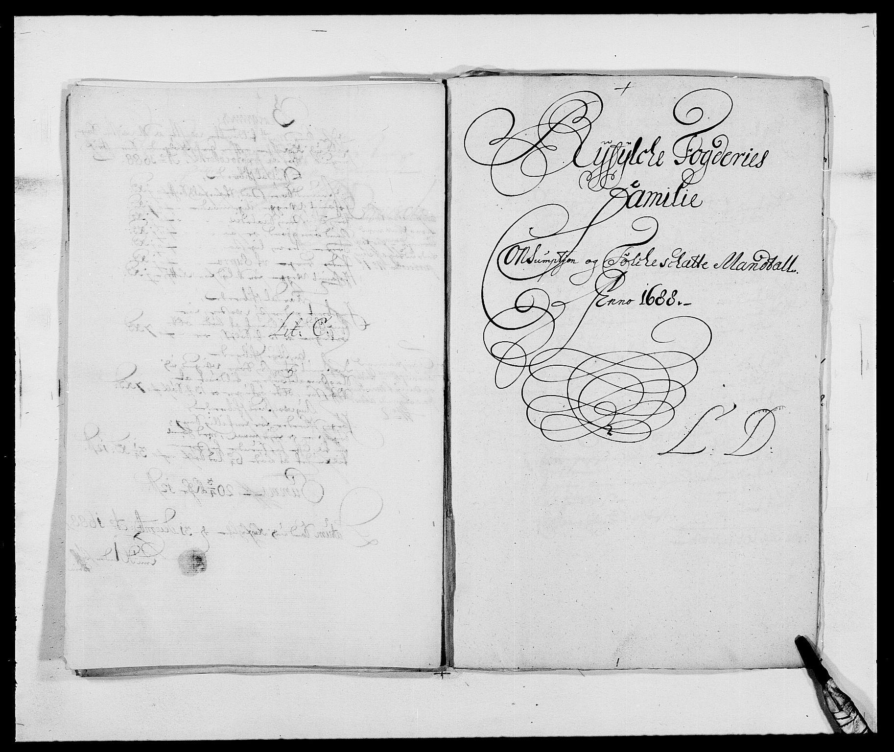 RA, Rentekammeret inntil 1814, Reviderte regnskaper, Fogderegnskap, R47/L2855: Fogderegnskap Ryfylke, 1685-1688, s. 343