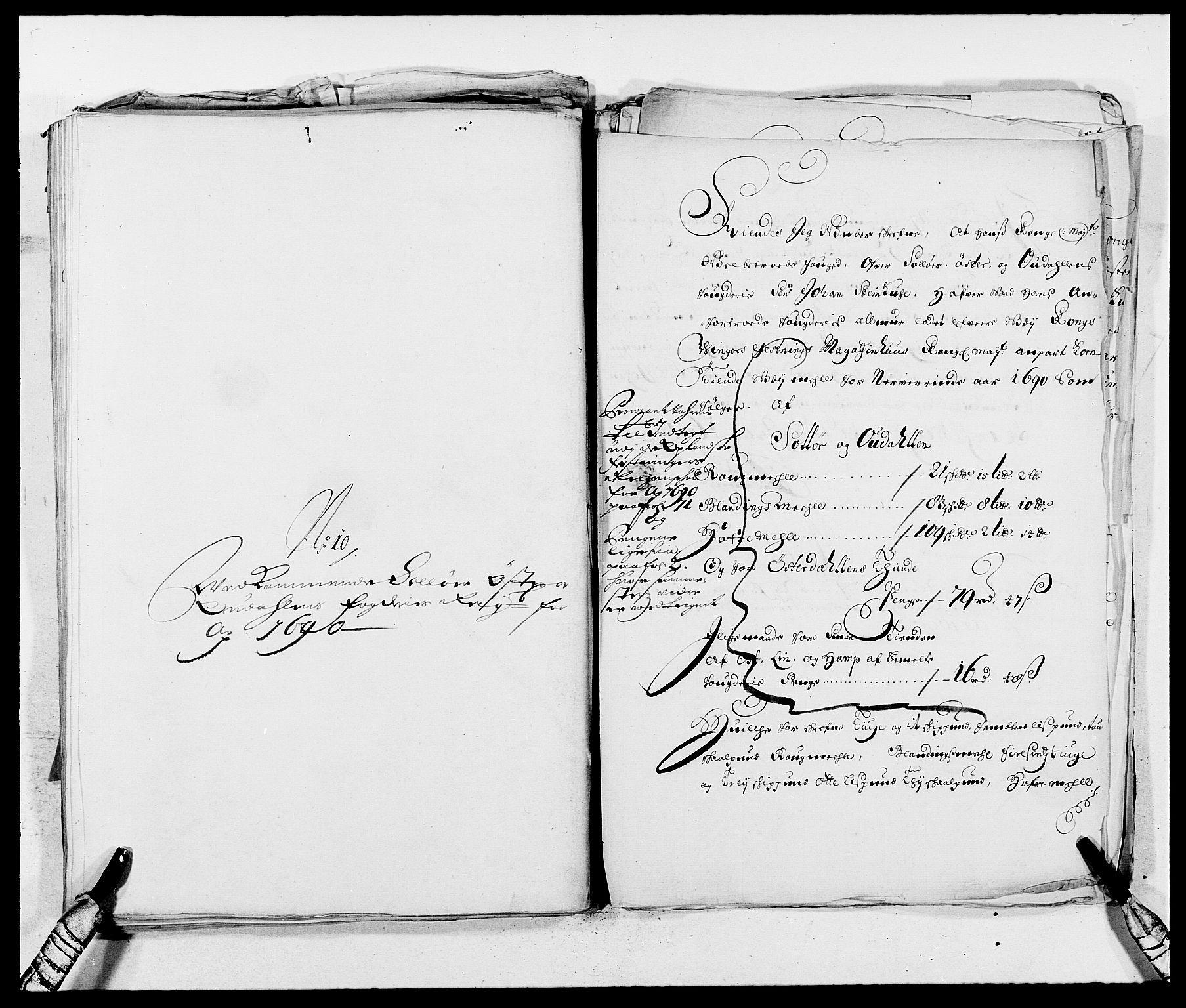 RA, Rentekammeret inntil 1814, Reviderte regnskaper, Fogderegnskap, R13/L0828: Fogderegnskap Solør, Odal og Østerdal, 1690, s. 363