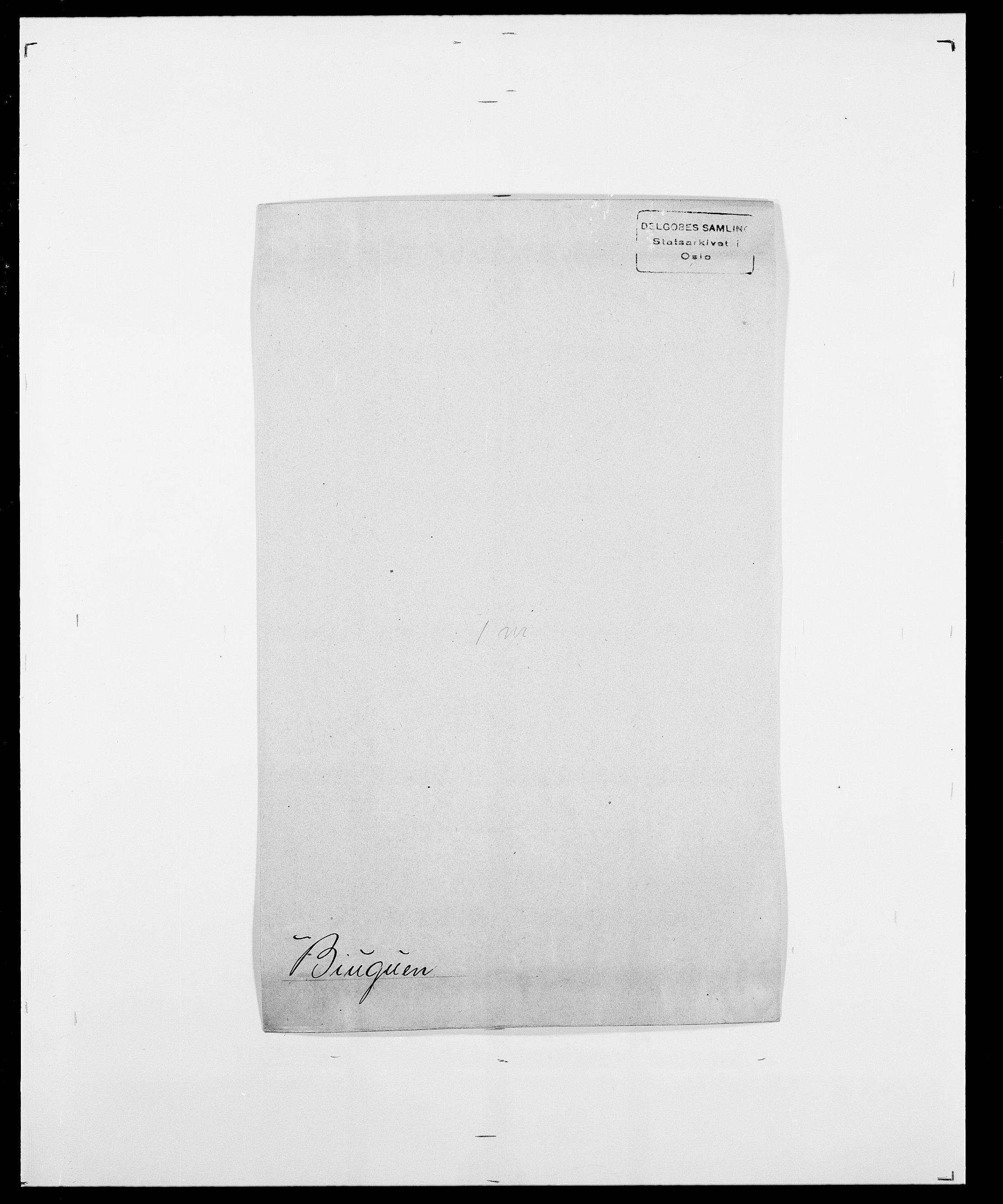 SAO, Delgobe, Charles Antoine - samling, D/Da/L0004: Bergendahl - Blære, s. 387
