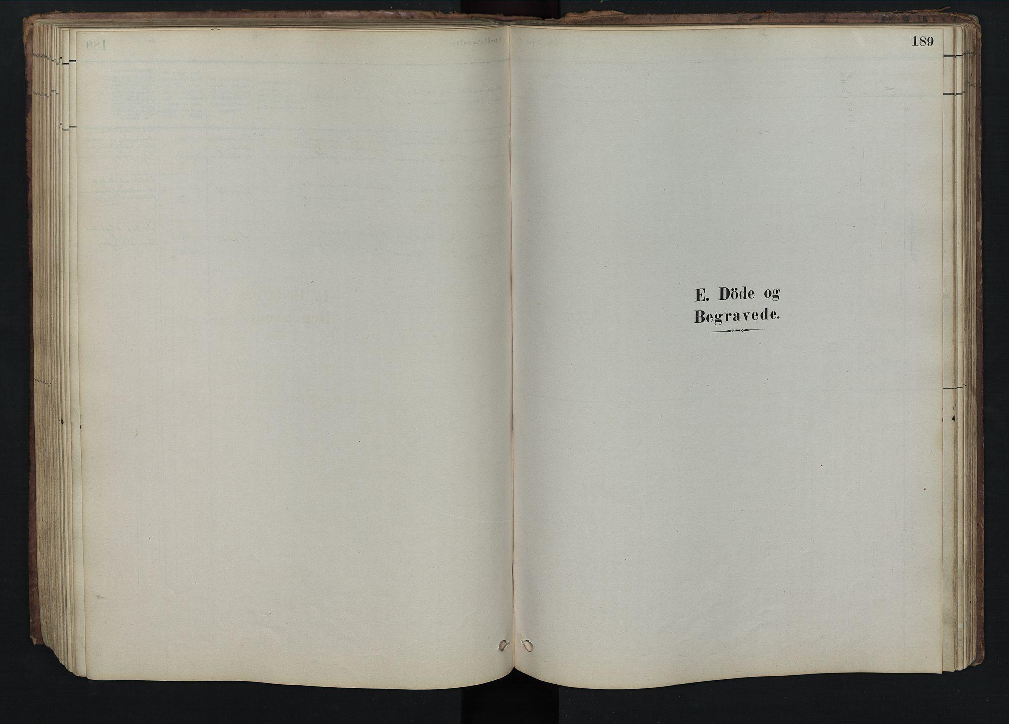 SAH, Rendalen prestekontor, H/Ha/Hab/L0009: Klokkerbok nr. 9, 1879-1902, s. 189