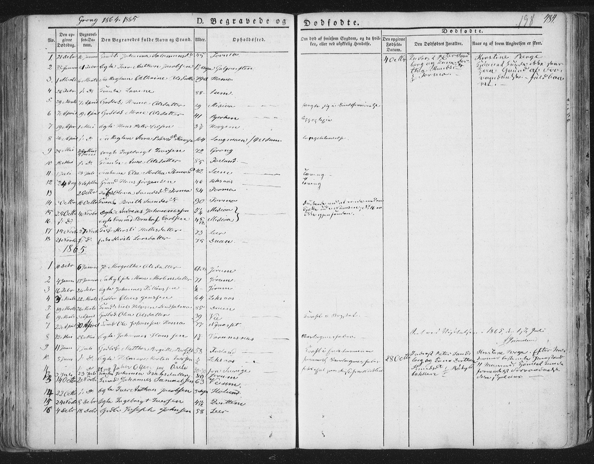 SAT, Ministerialprotokoller, klokkerbøker og fødselsregistre - Nord-Trøndelag, 758/L0513: Ministerialbok nr. 758A02 /1, 1839-1868, s. 198