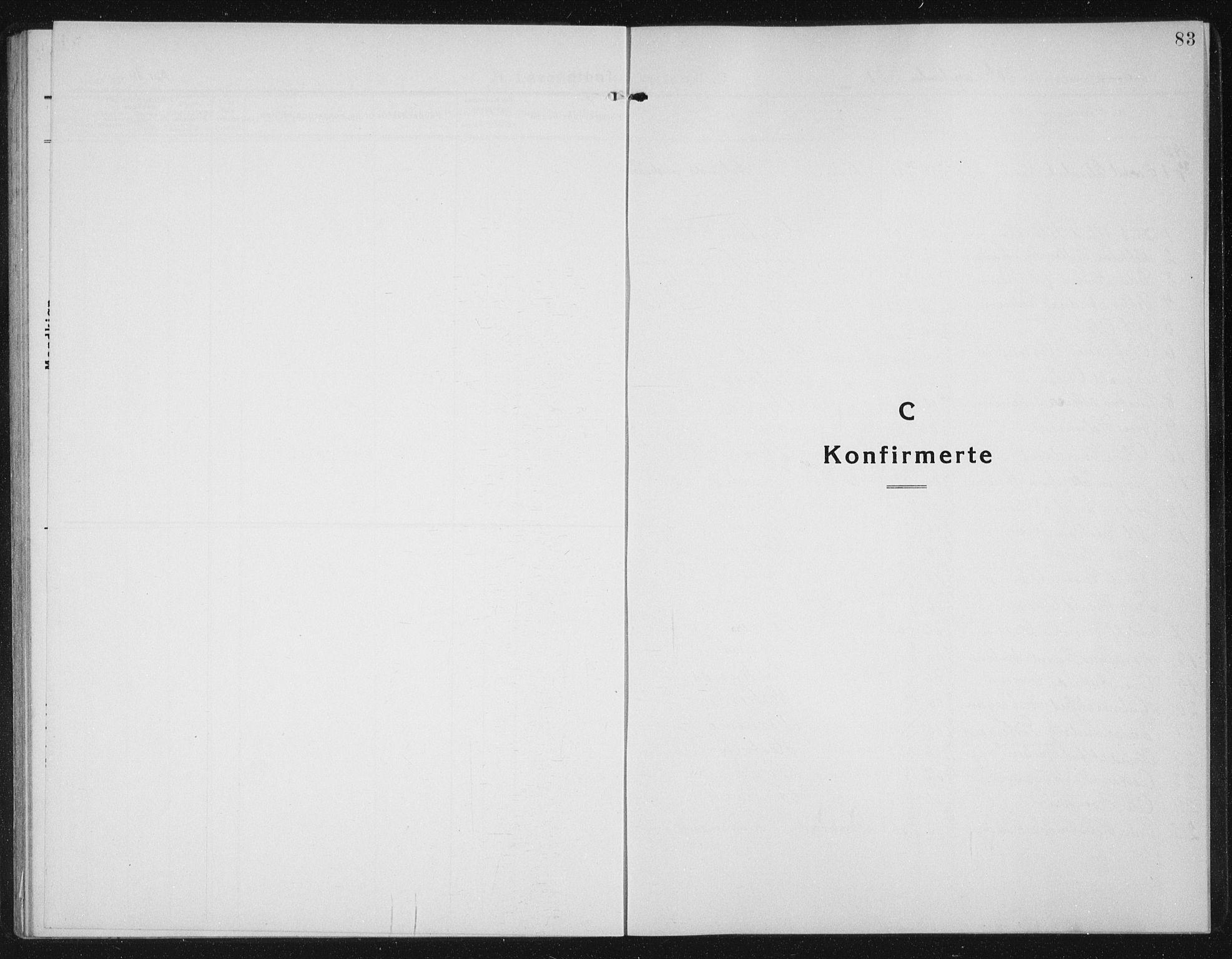 SAT, Ministerialprotokoller, klokkerbøker og fødselsregistre - Sør-Trøndelag, 655/L0689: Klokkerbok nr. 655C05, 1922-1936, s. 83