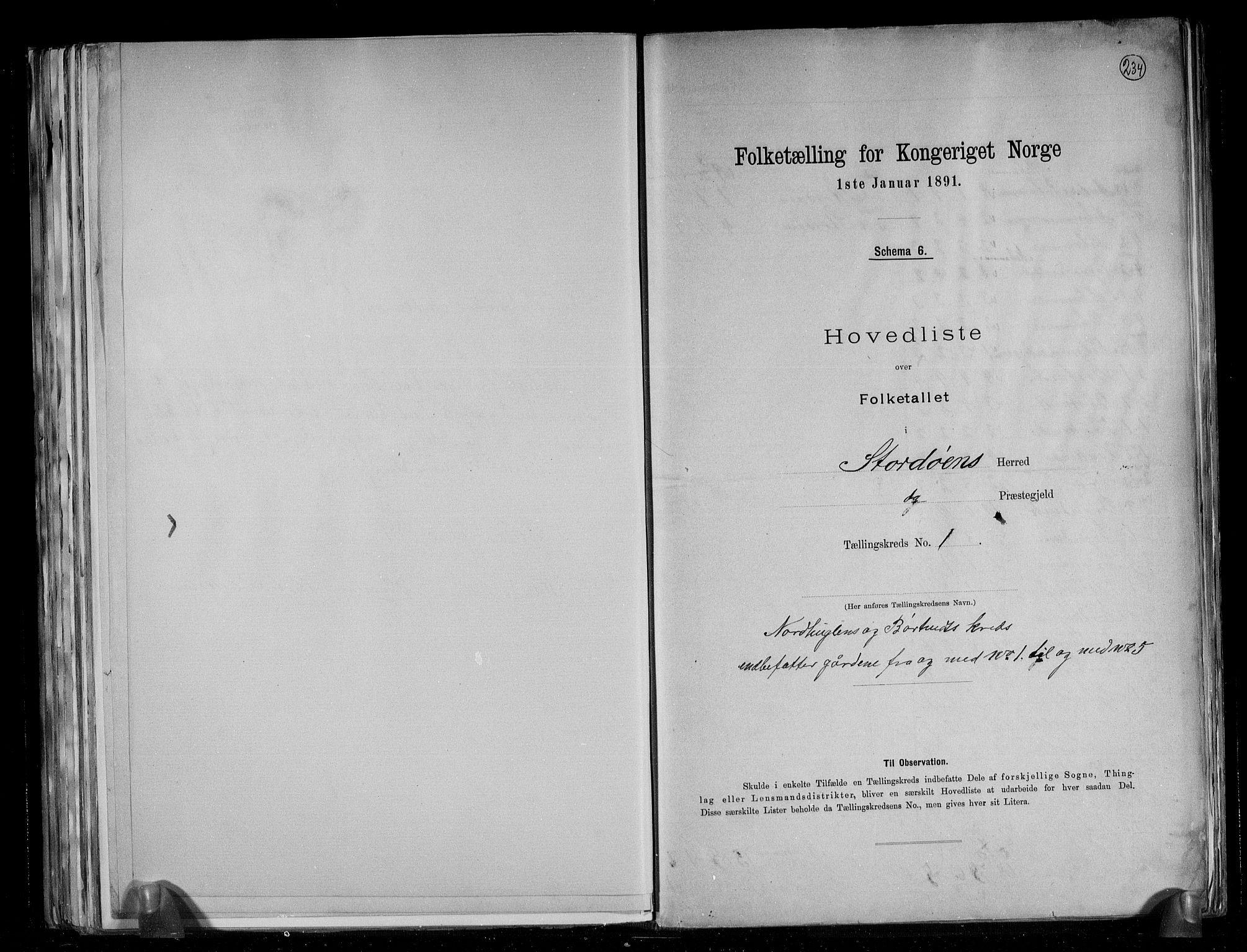 RA, Folketelling 1891 for 1221 Stord herred, 1891, s. 5