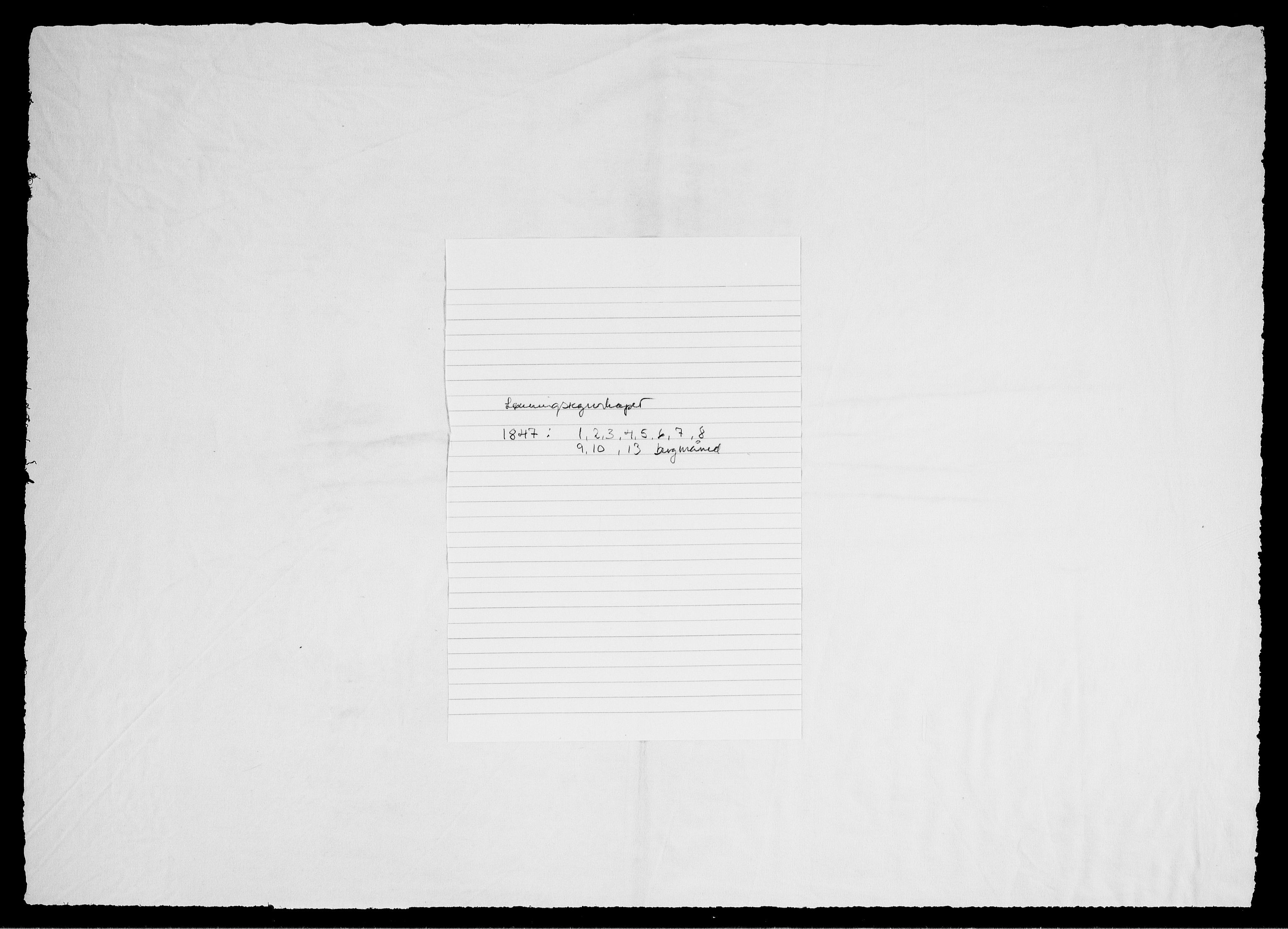 RA, Modums Blaafarveværk, G/Gd/Gdd/L0283, 1847, s. 2
