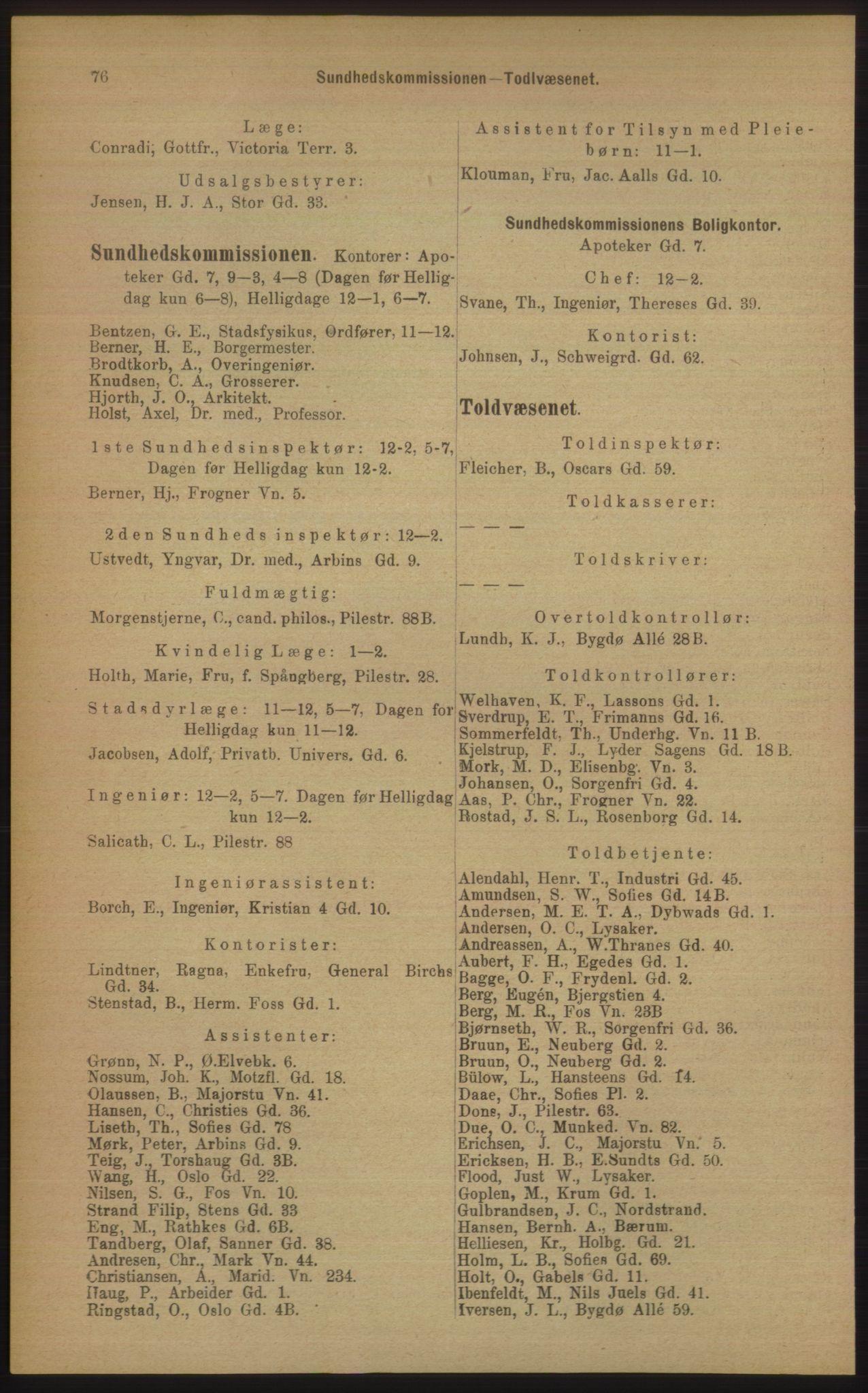 PUBL, Kristiania/Oslo adressebok, 1906, s. 76