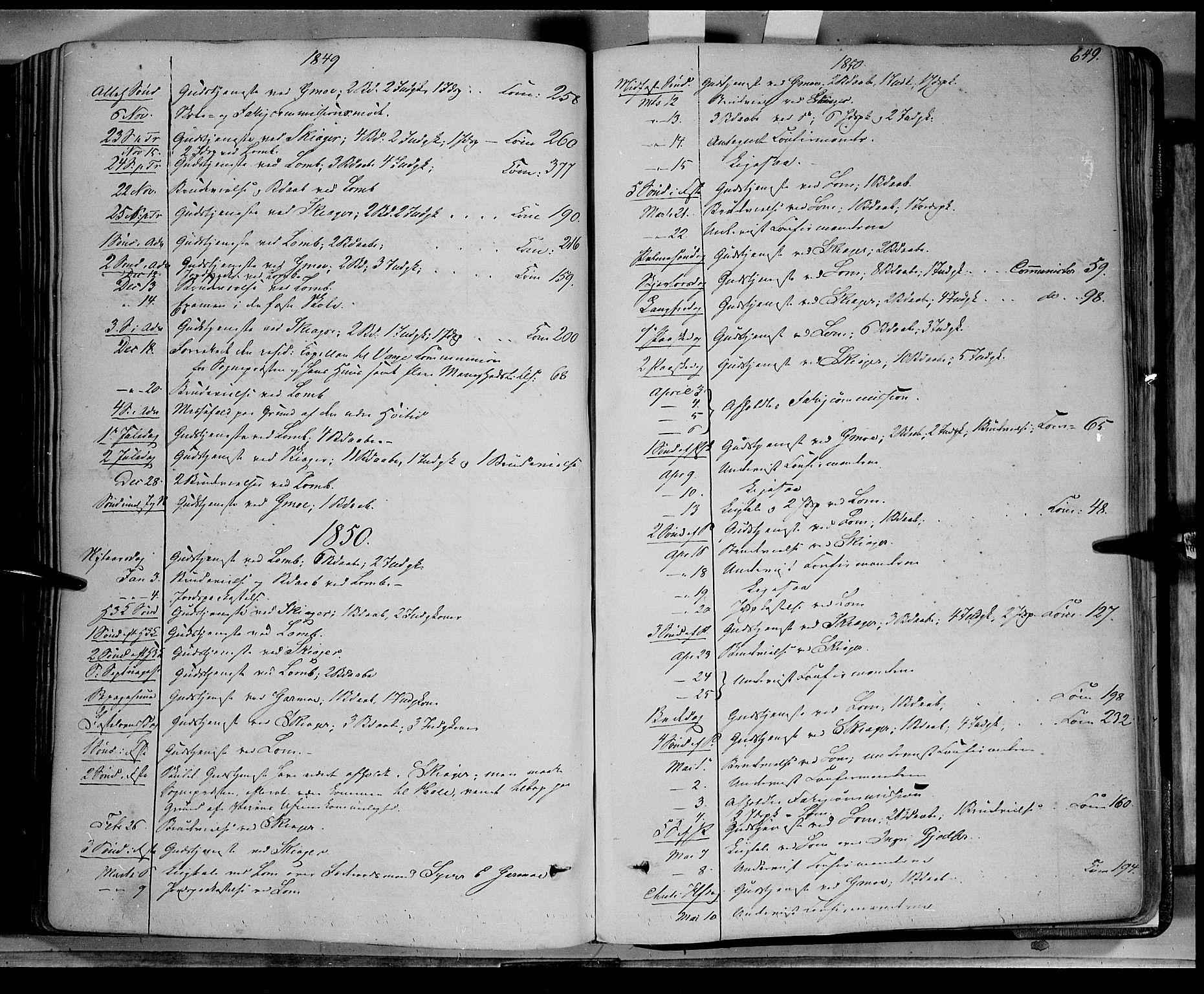 SAH, Lom prestekontor, K/L0006: Ministerialbok nr. 6B, 1837-1863, s. 649