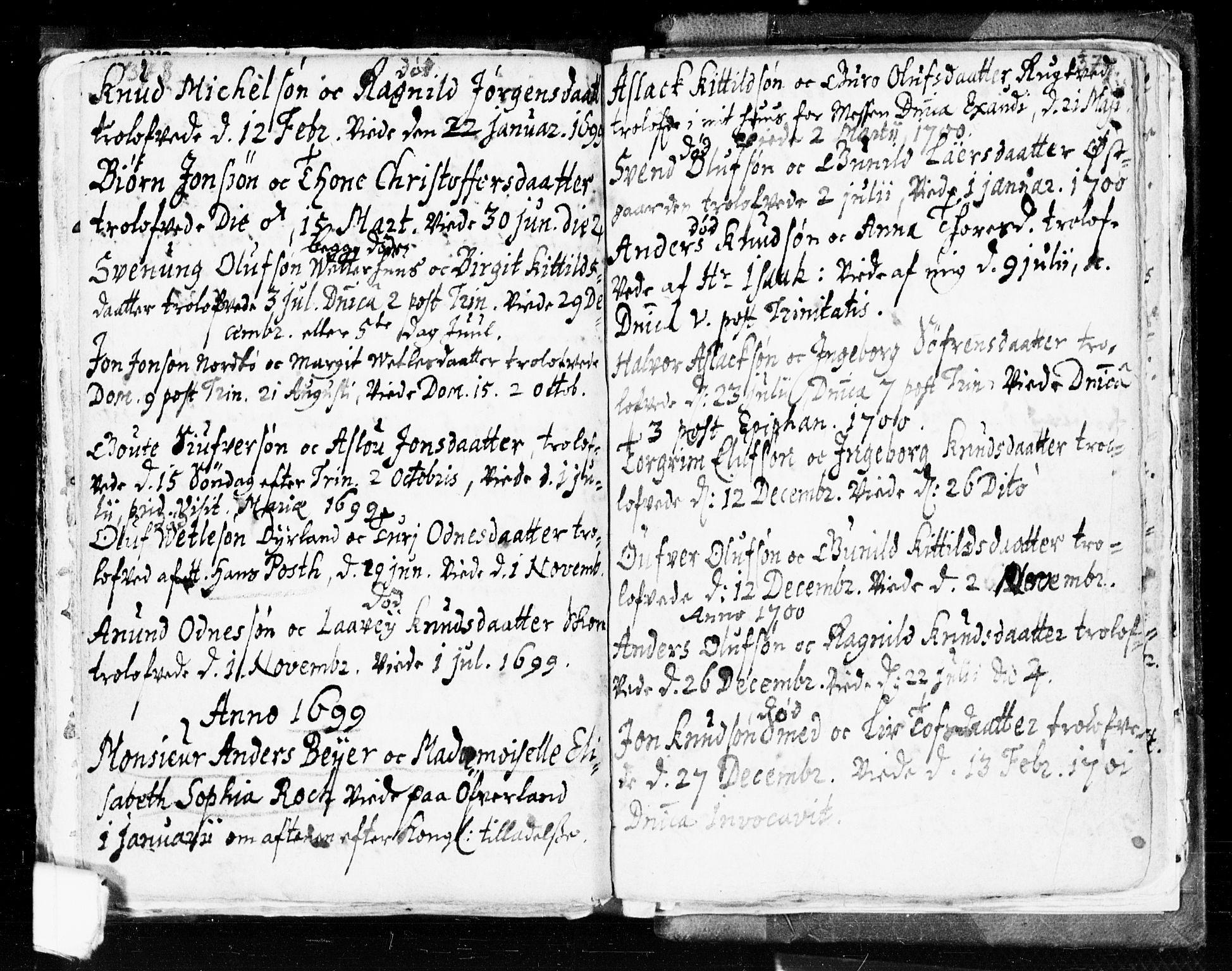 SAKO, Seljord kirkebøker, F/Fa/L0002: Ministerialbok nr. I 2, 1689-1713, s. 378-379