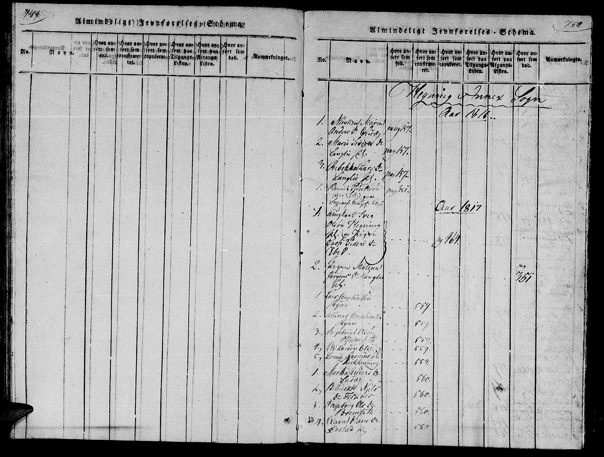 SAT, Ministerialprotokoller, klokkerbøker og fødselsregistre - Nord-Trøndelag, 735/L0333: Ministerialbok nr. 735A04 /3, 1816-1825, s. 749-750