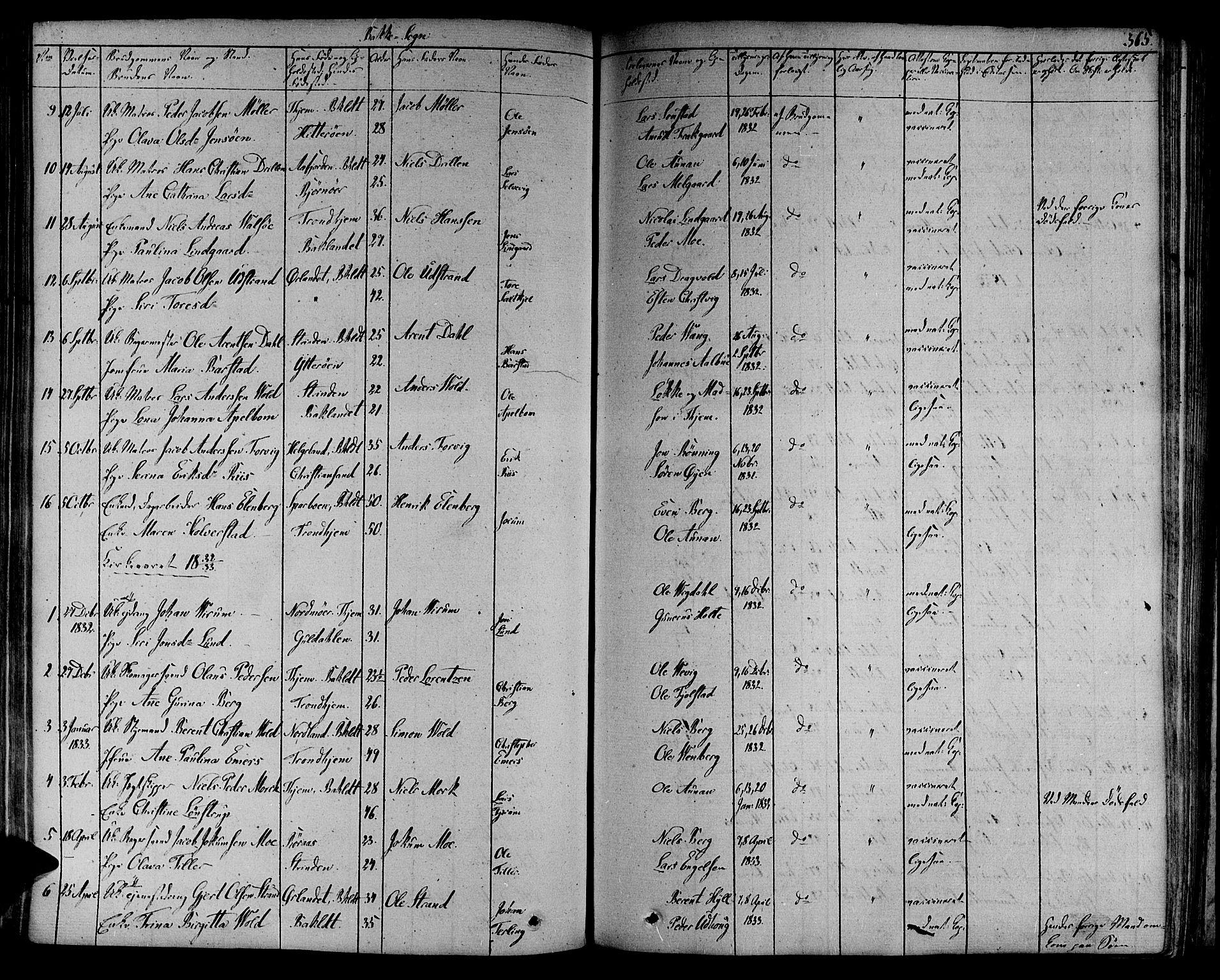 SAT, Ministerialprotokoller, klokkerbøker og fødselsregistre - Sør-Trøndelag, 606/L0287: Ministerialbok nr. 606A04 /2, 1826-1840, s. 365