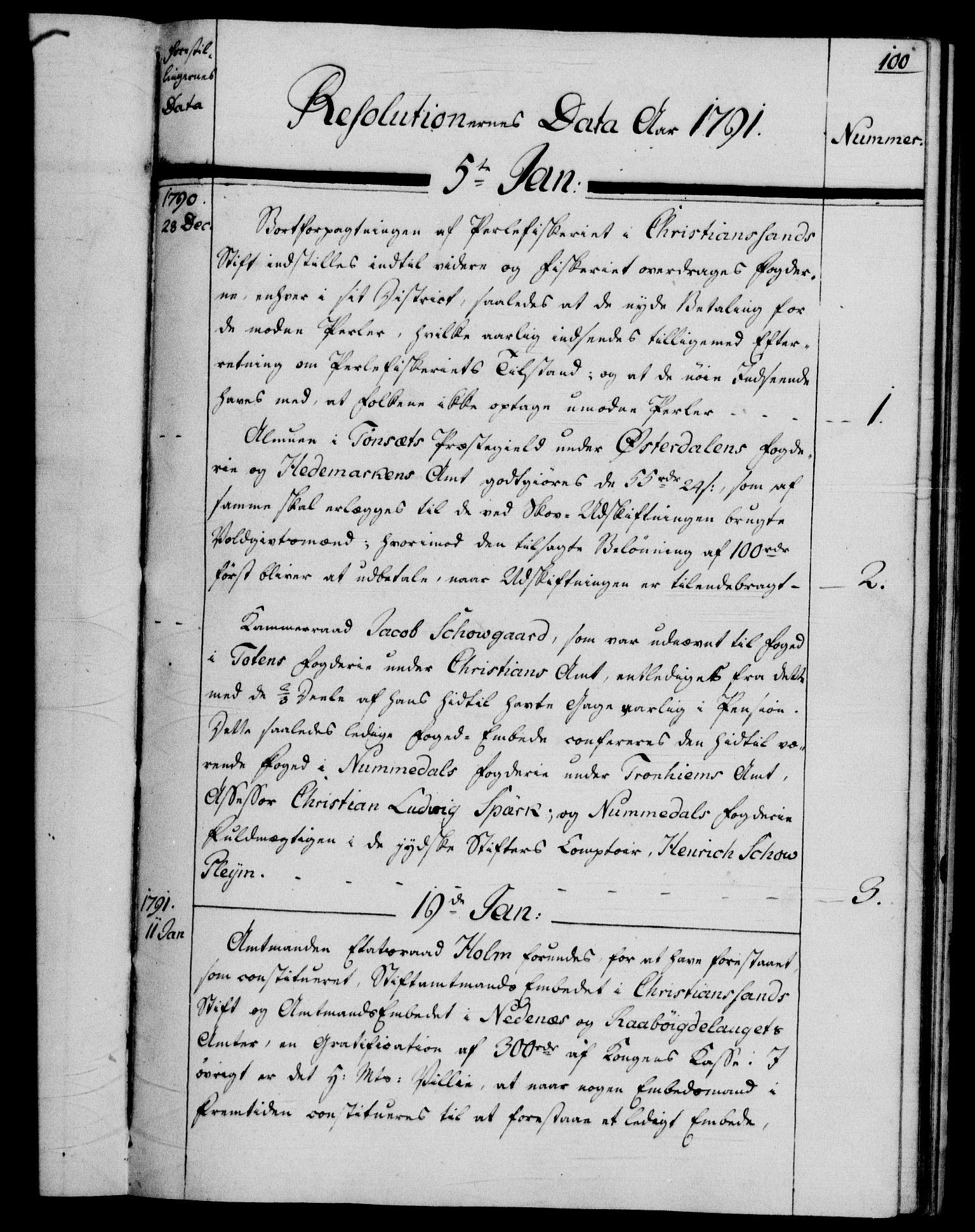 RA, Rentekammeret, Kammerkanselliet, G/Gf/Gfb/L0013: Register til norske relasjons- og resolusjonsprotokoller (merket RK 52.108), 1786-1793, s. 1100a