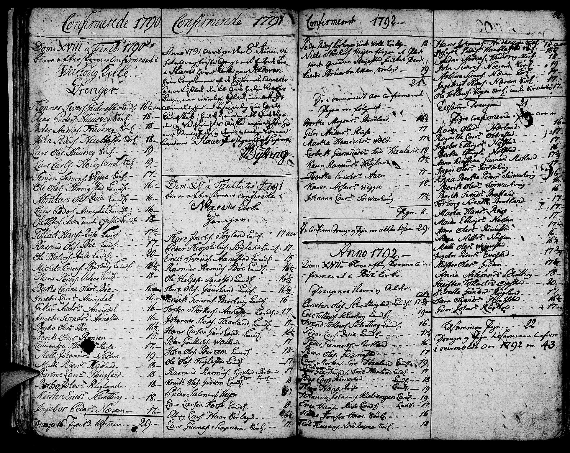 SAST, Hå sokneprestkontor, 30BA/L0001: Ministerialbok nr. A 1, 1787-1812, s. 62