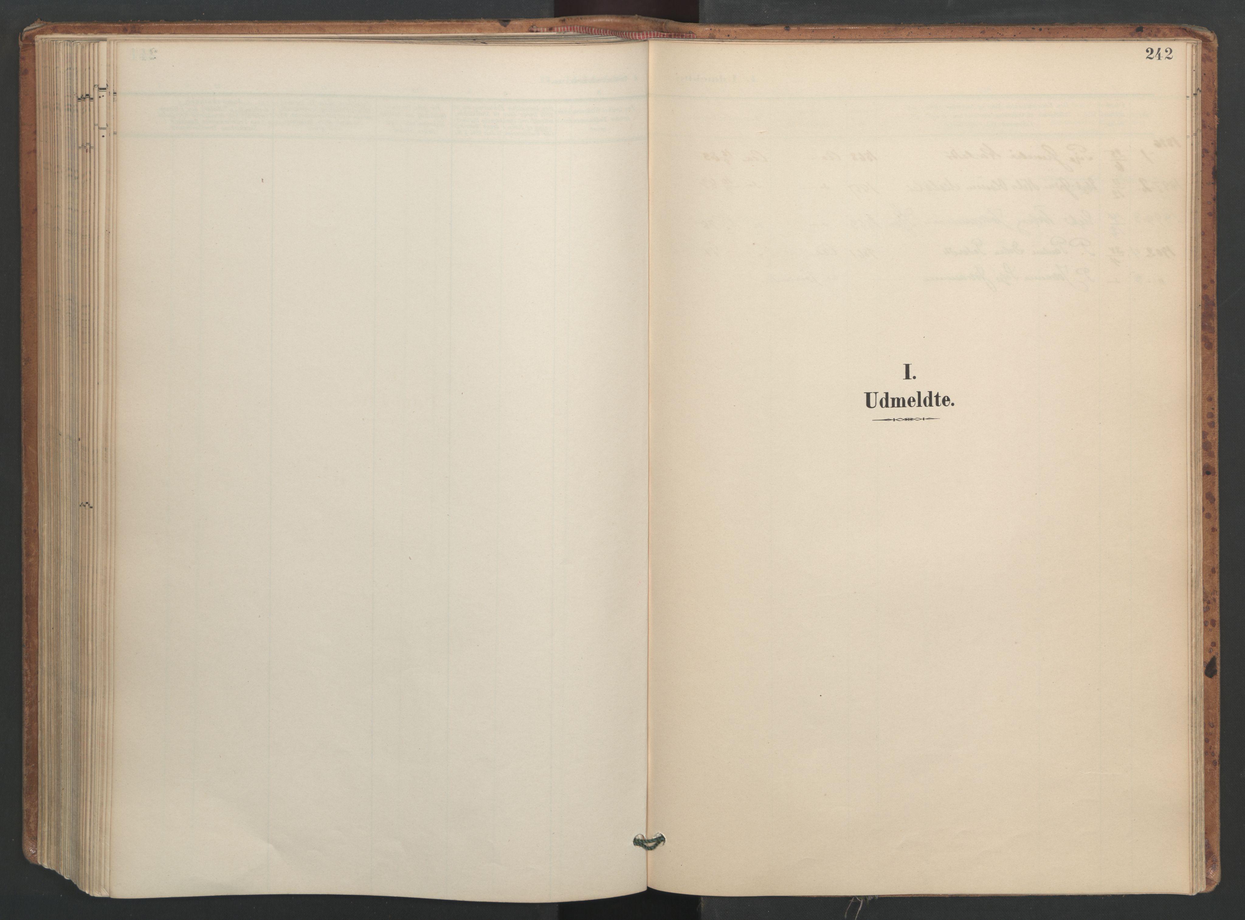 SAT, Ministerialprotokoller, klokkerbøker og fødselsregistre - Sør-Trøndelag, 655/L0681: Ministerialbok nr. 655A10, 1895-1907, s. 242